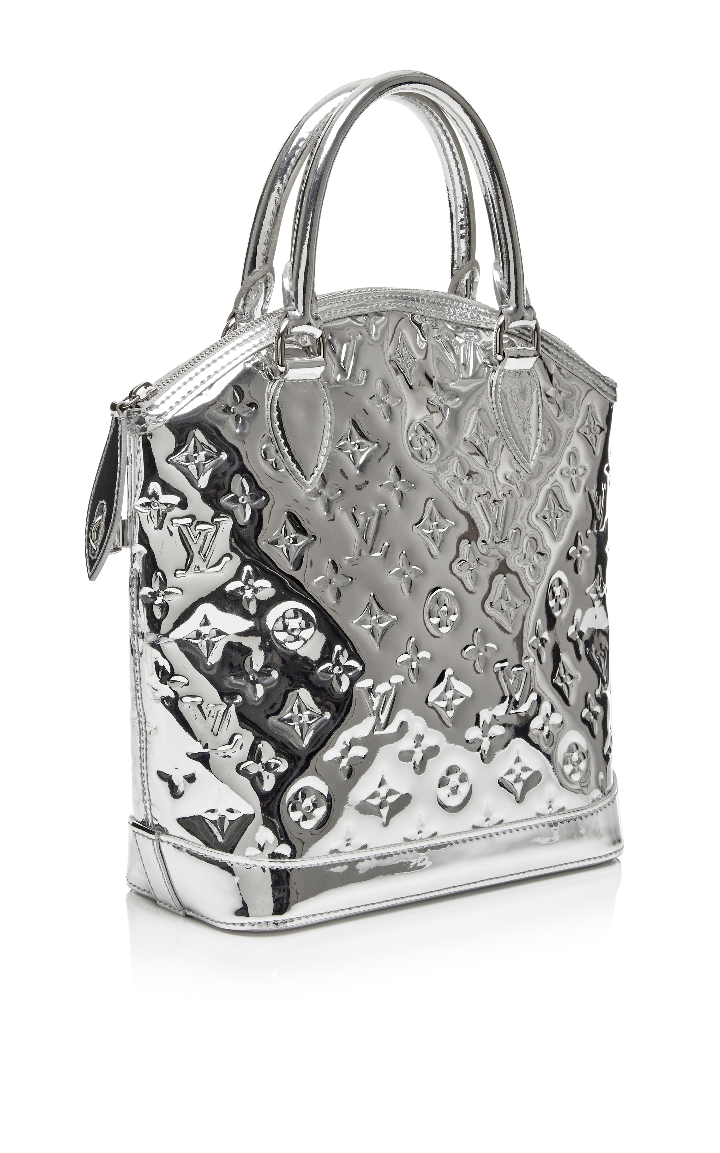 Lyst louis vuitton silver miroir lockit pm in metallic for Miroir louis vuitton