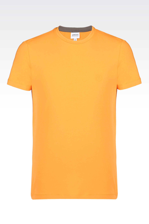 lyst armani t shirt in single jersey in orange for men. Black Bedroom Furniture Sets. Home Design Ideas