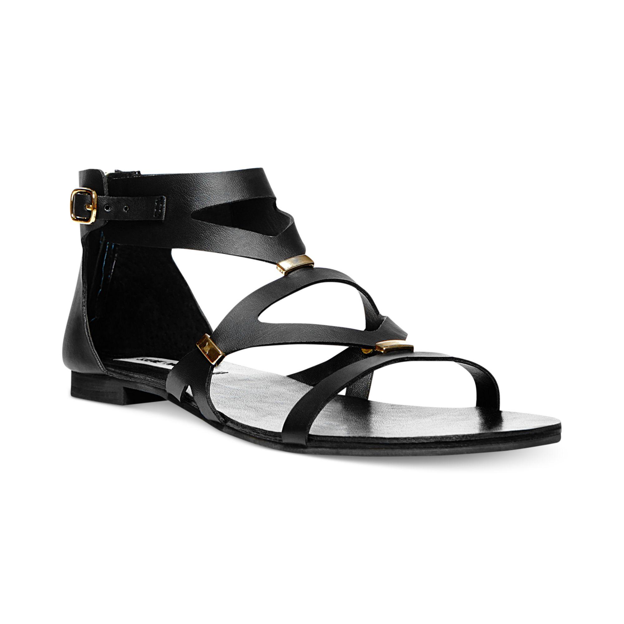 164be94cba3e2e Lyst - Steve Madden Womens Commma Flat Sandals in Black