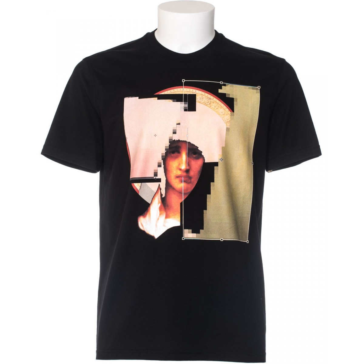 givenchy black t shirt cuban fit printed in black for men lyst. Black Bedroom Furniture Sets. Home Design Ideas