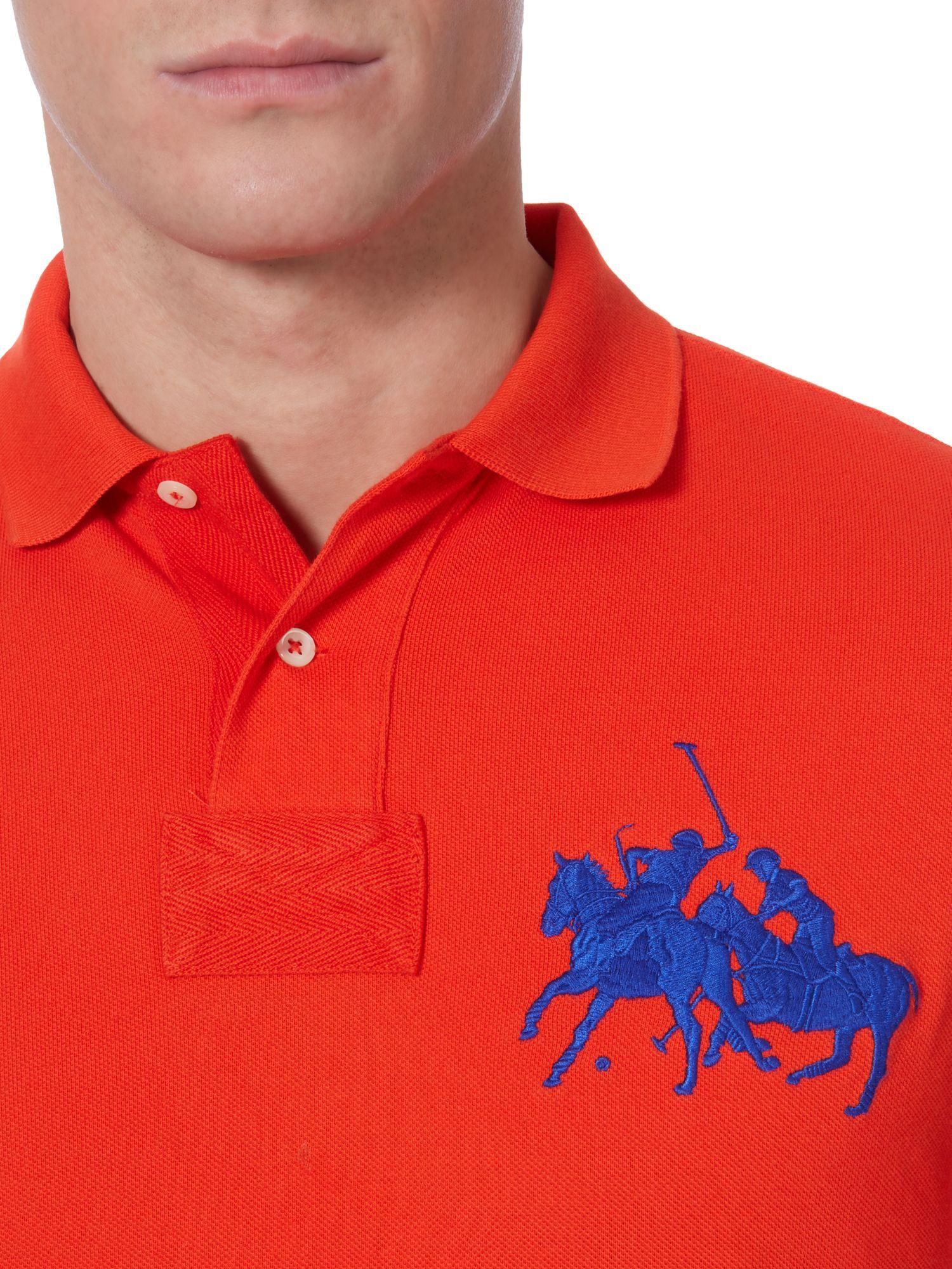 Ralph Lauren Men Classic Dual Mach Red Short Sleeved Polo