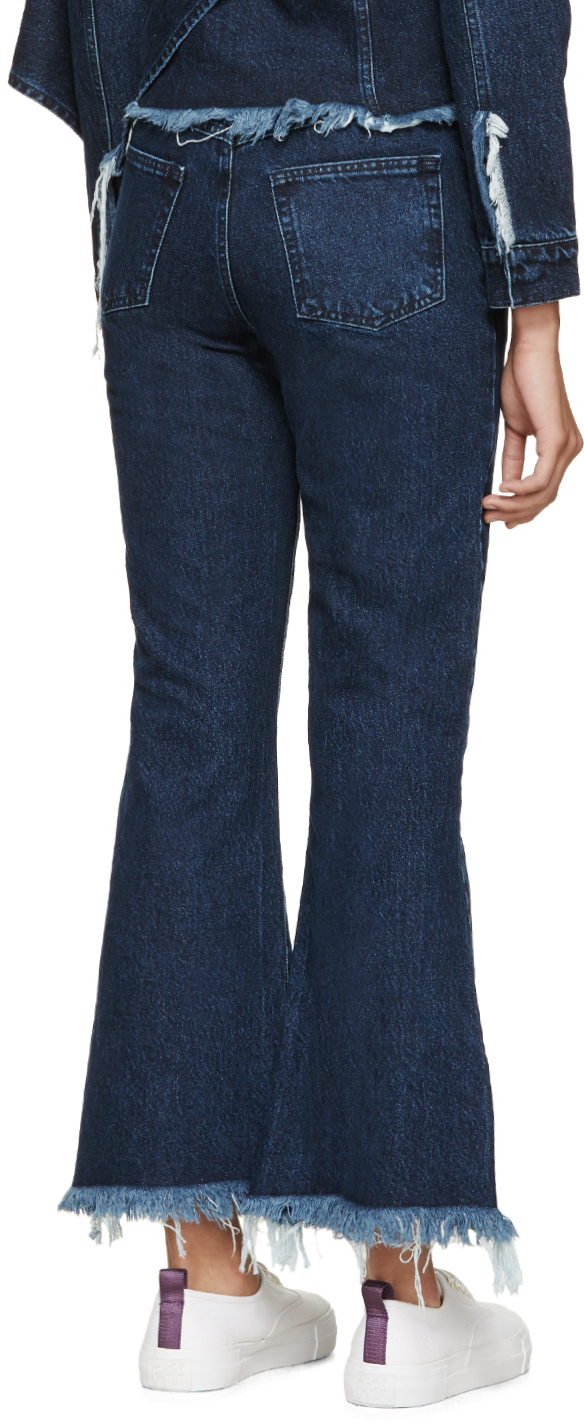 lace-up cropped jeans - Blue Marques Almeida bFdOfY