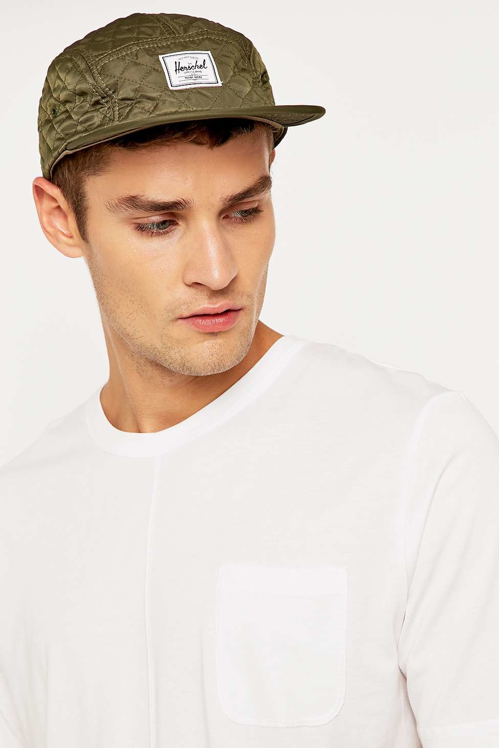 1ff2d4b212e ... coupon for herschel supply co. quilted glendale classic army cap in  green for 592ef 903c3