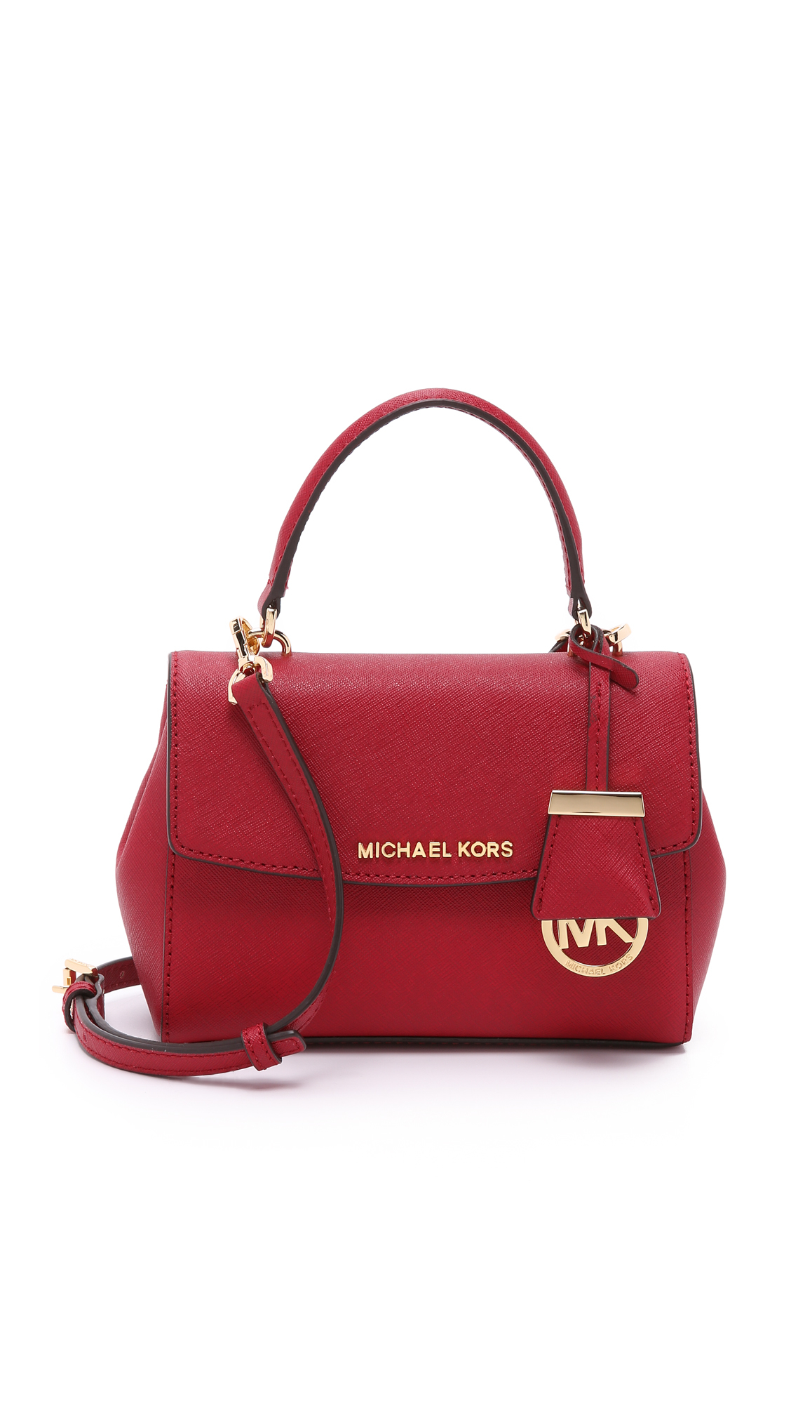 989fb74c3d01 MICHAEL Michael Kors Ava Extra Small Cross Body Bag - Cherry in Red ...