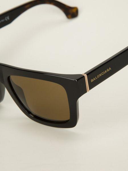 Balenciaga Square Frame Sunglasses In Black For Men Lyst