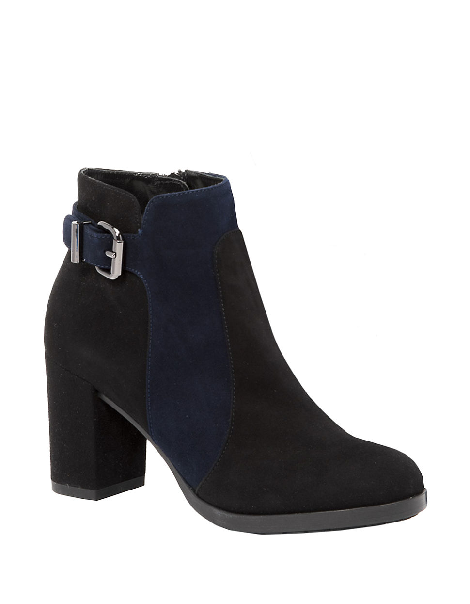 aquatalia elianna suede ankle boots in blue lyst