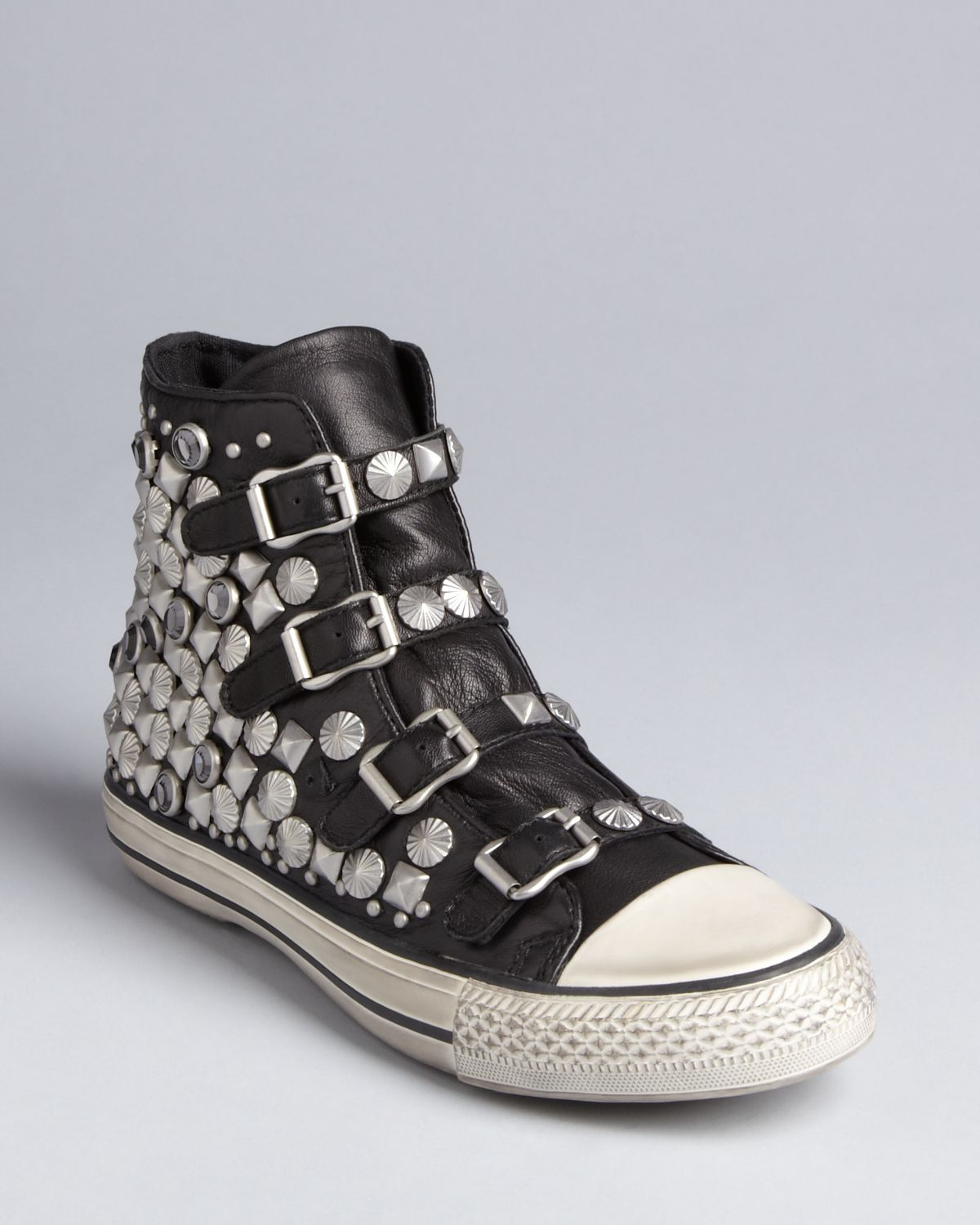 ash high top sneakers victim in black lyst. Black Bedroom Furniture Sets. Home Design Ideas