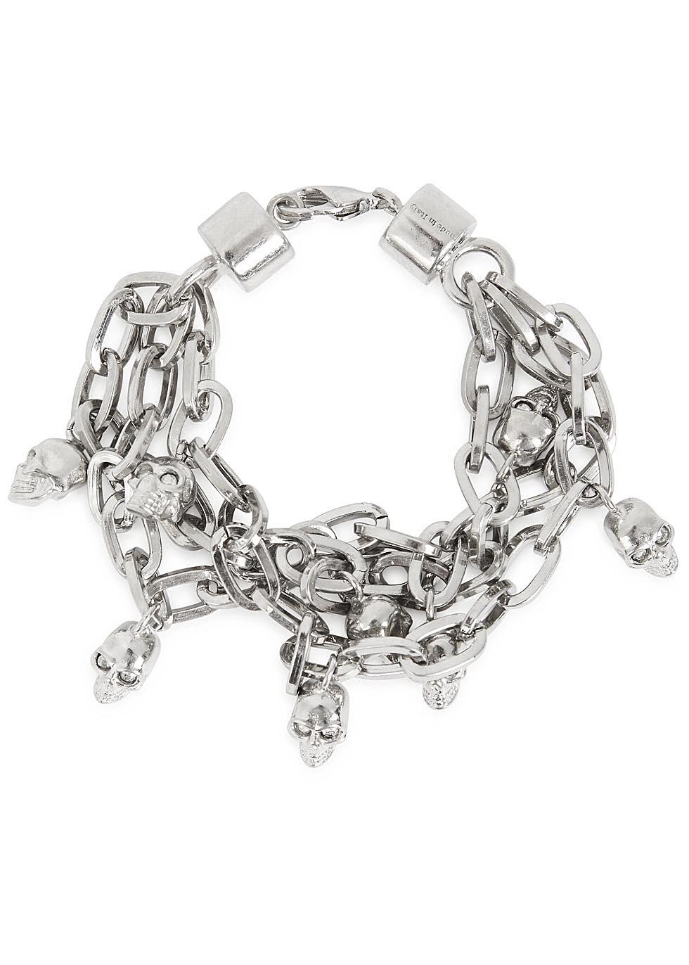 Silver-tone Chain Bracelet Alexander McQueen EO6Yf