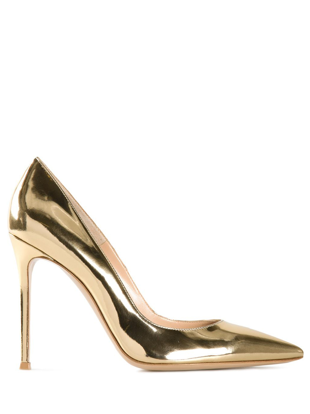 Black Suede Shoes With Gold Heel
