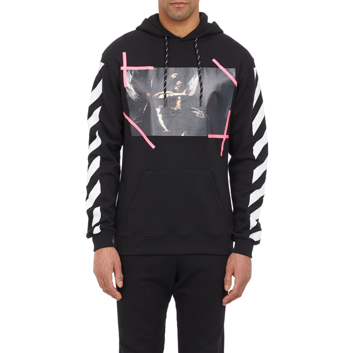 Off-white c/o virgil abloh Caravaggio Hoodie in Black for Men | Lyst