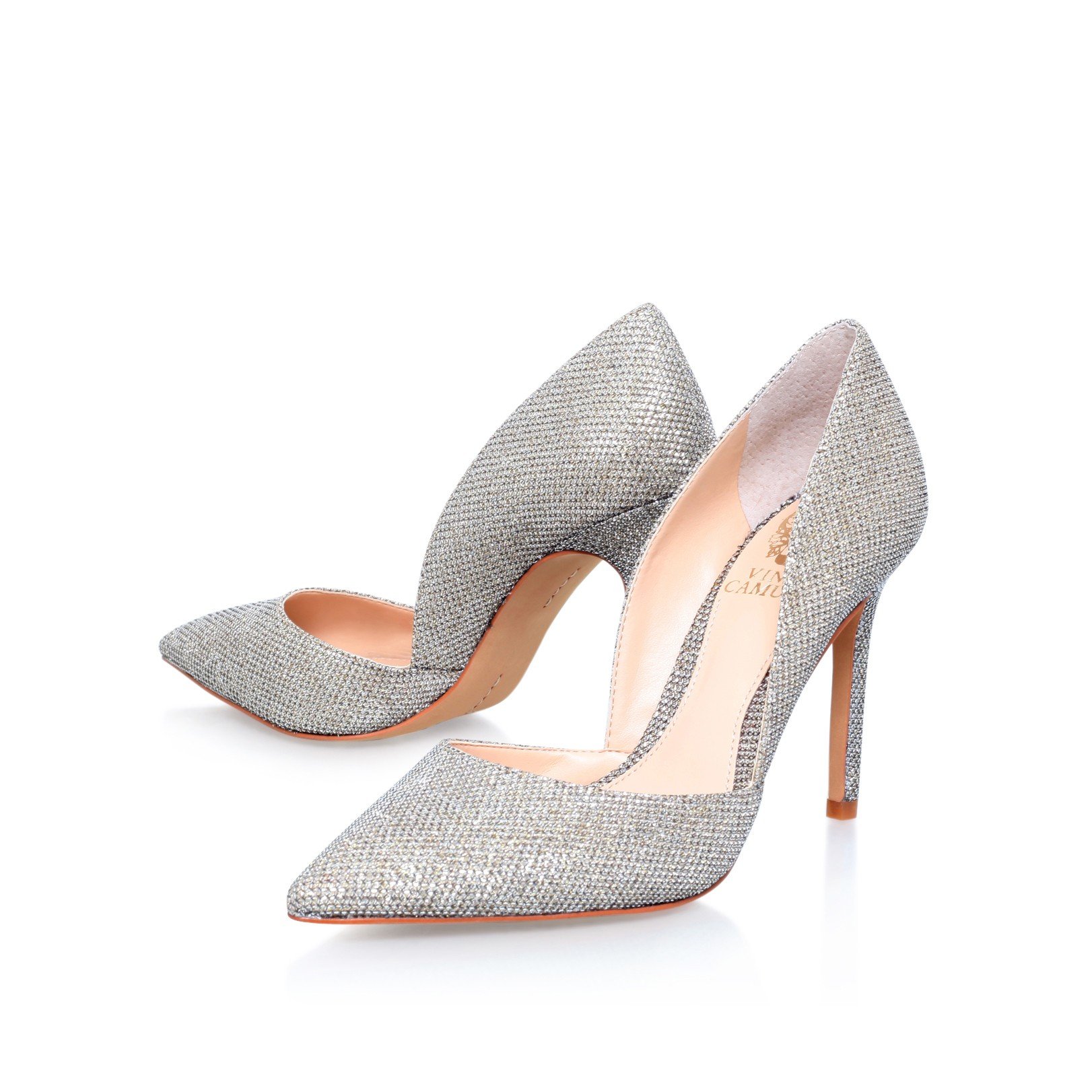 Vince Camuto Rowin High Heel Court Shoes In Gold Lyst