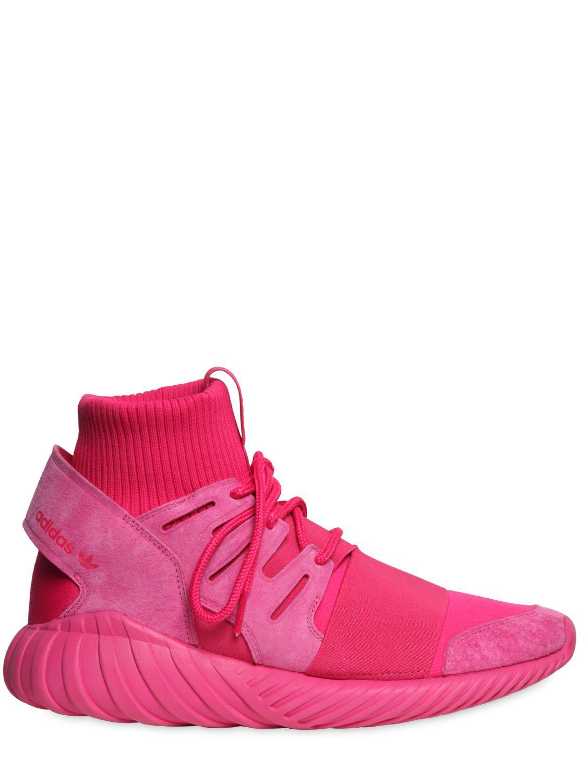 9b516c0bb99f Lyst - adidas Originals Tubular Doom Suede Sneakers in Pink for Men