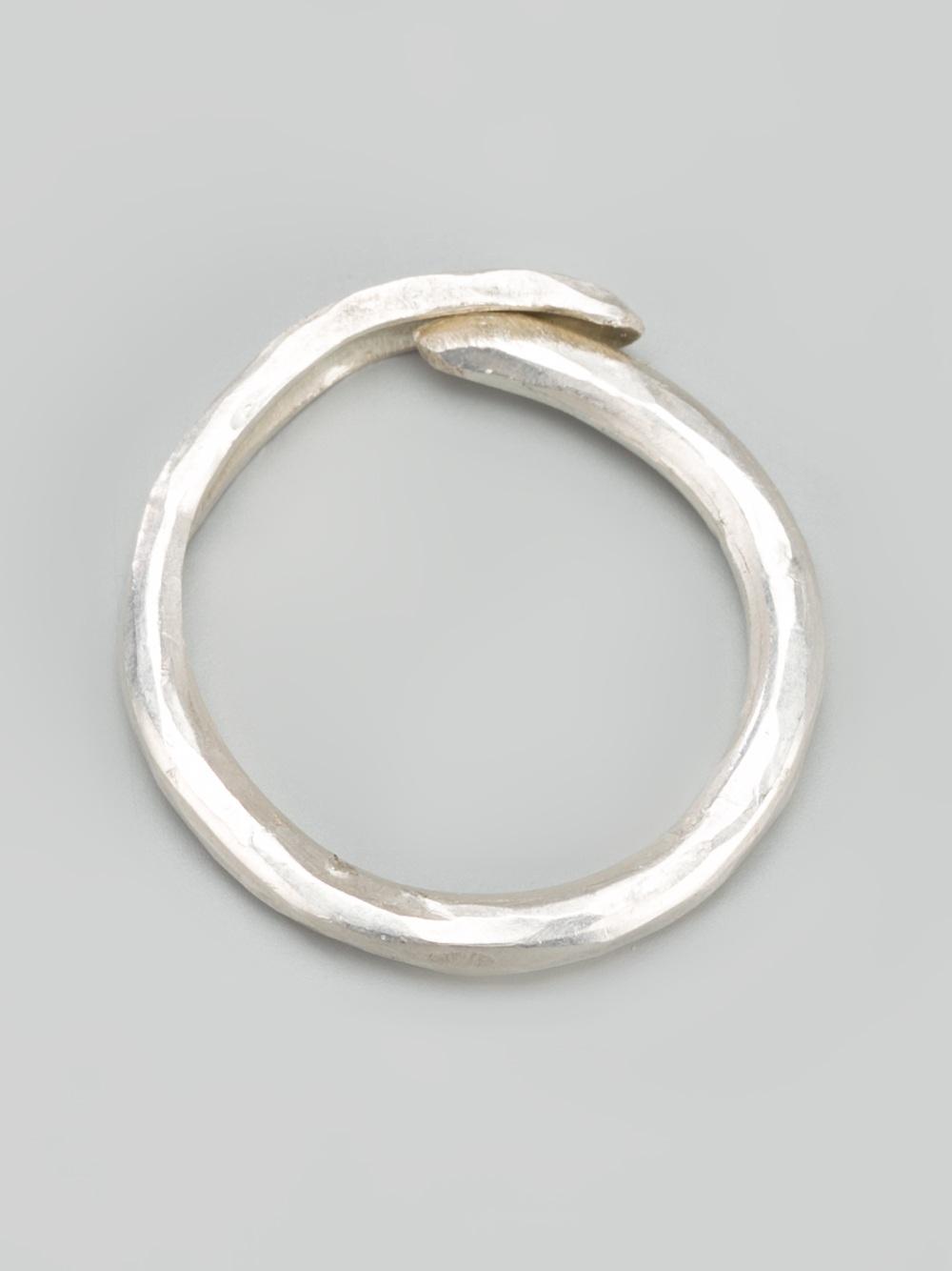 Alice Waese beaten ring - Metallic B1dNfMgvIF