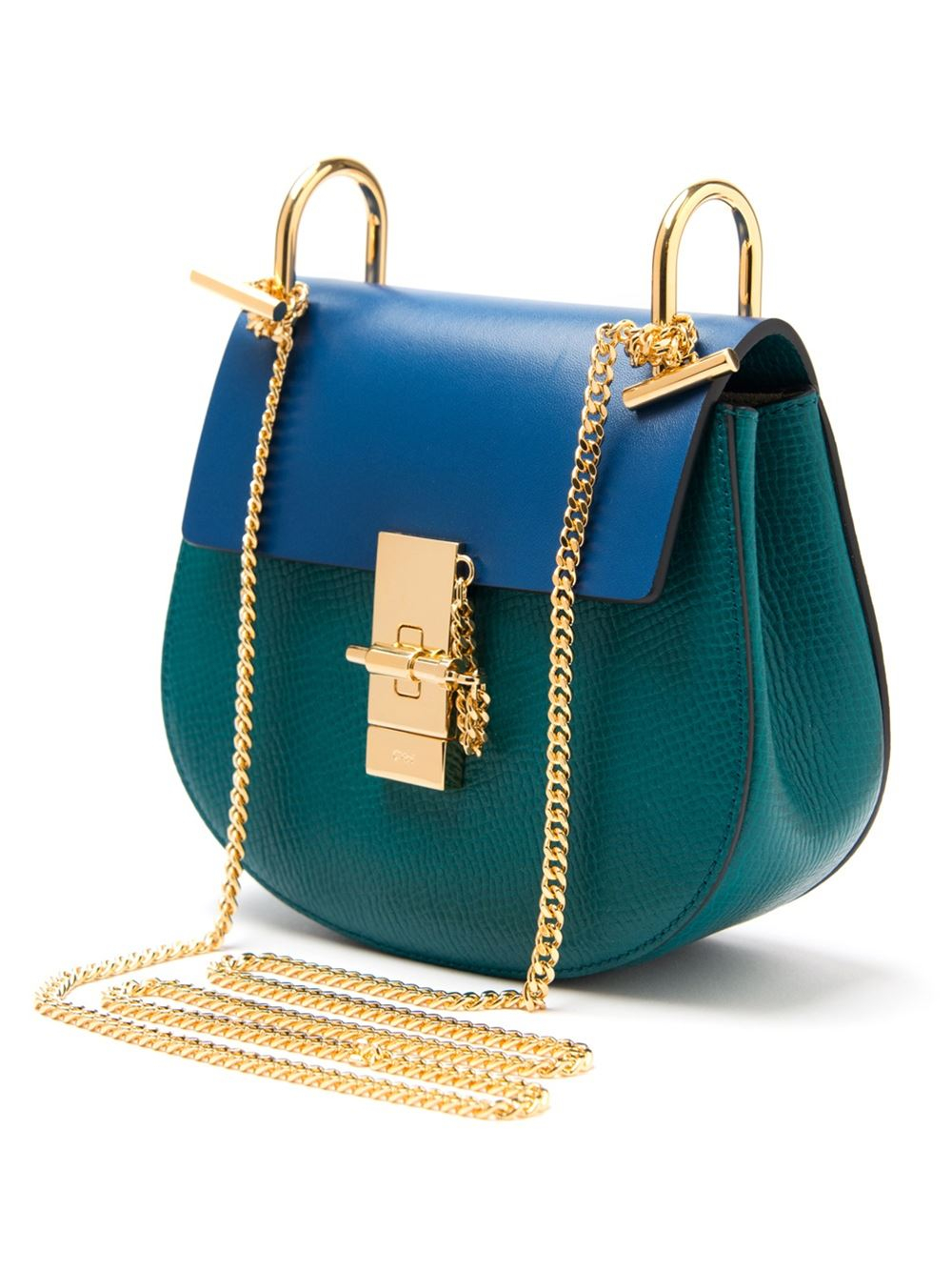 chlo drew mini leather cross body bag in blue lyst. Black Bedroom Furniture Sets. Home Design Ideas