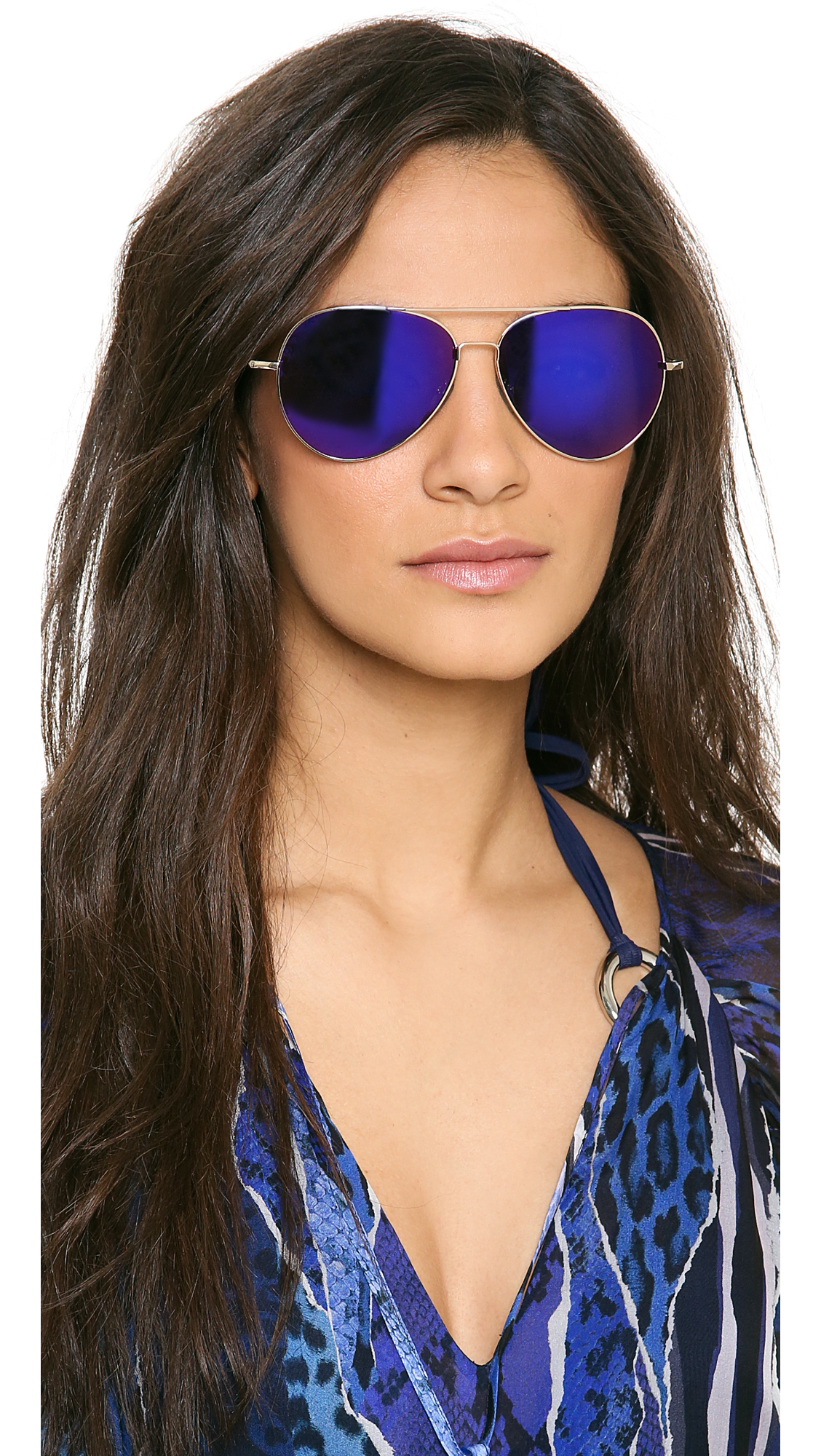 Matthew Williamson Mirrored Aviator Sunglassess In Purple