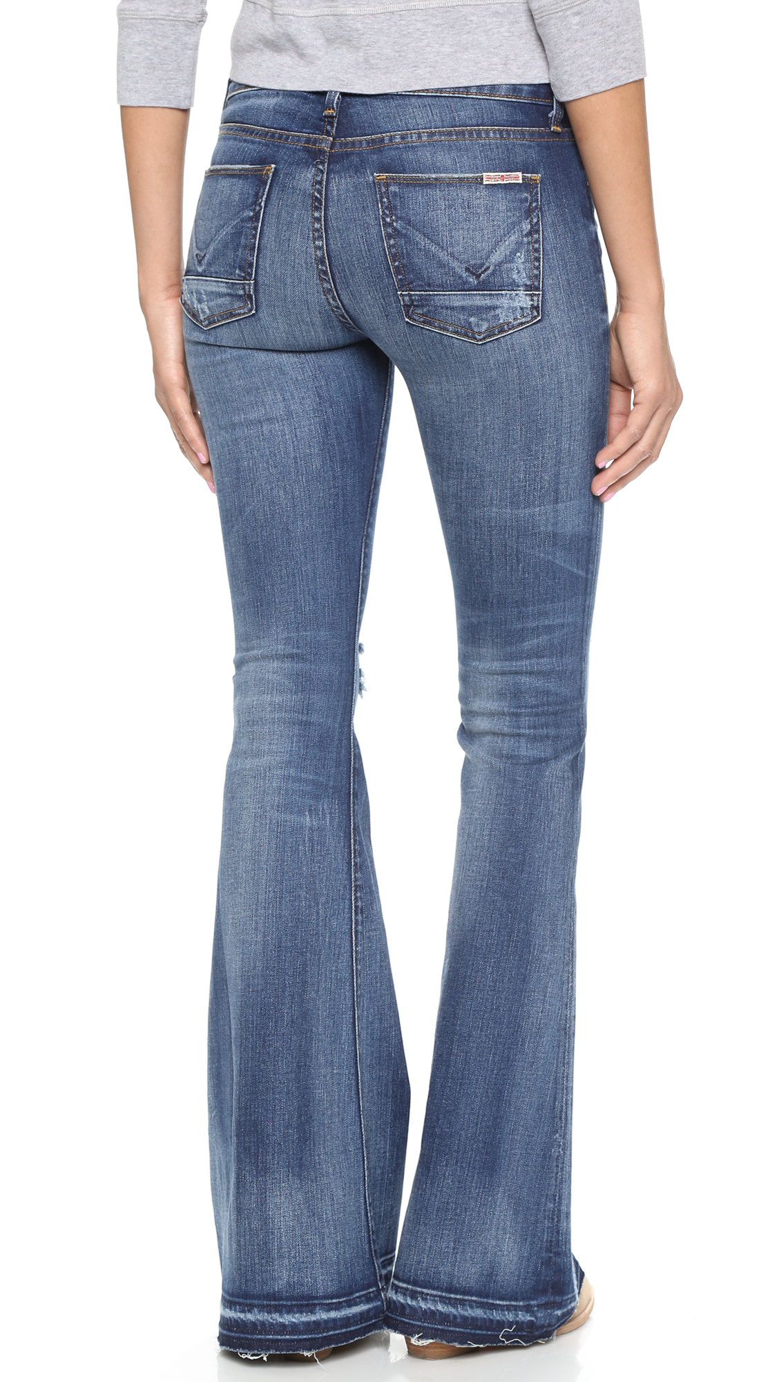 Hudson jeans Mia Flare Jeans - Beaudry in Blue | Lyst