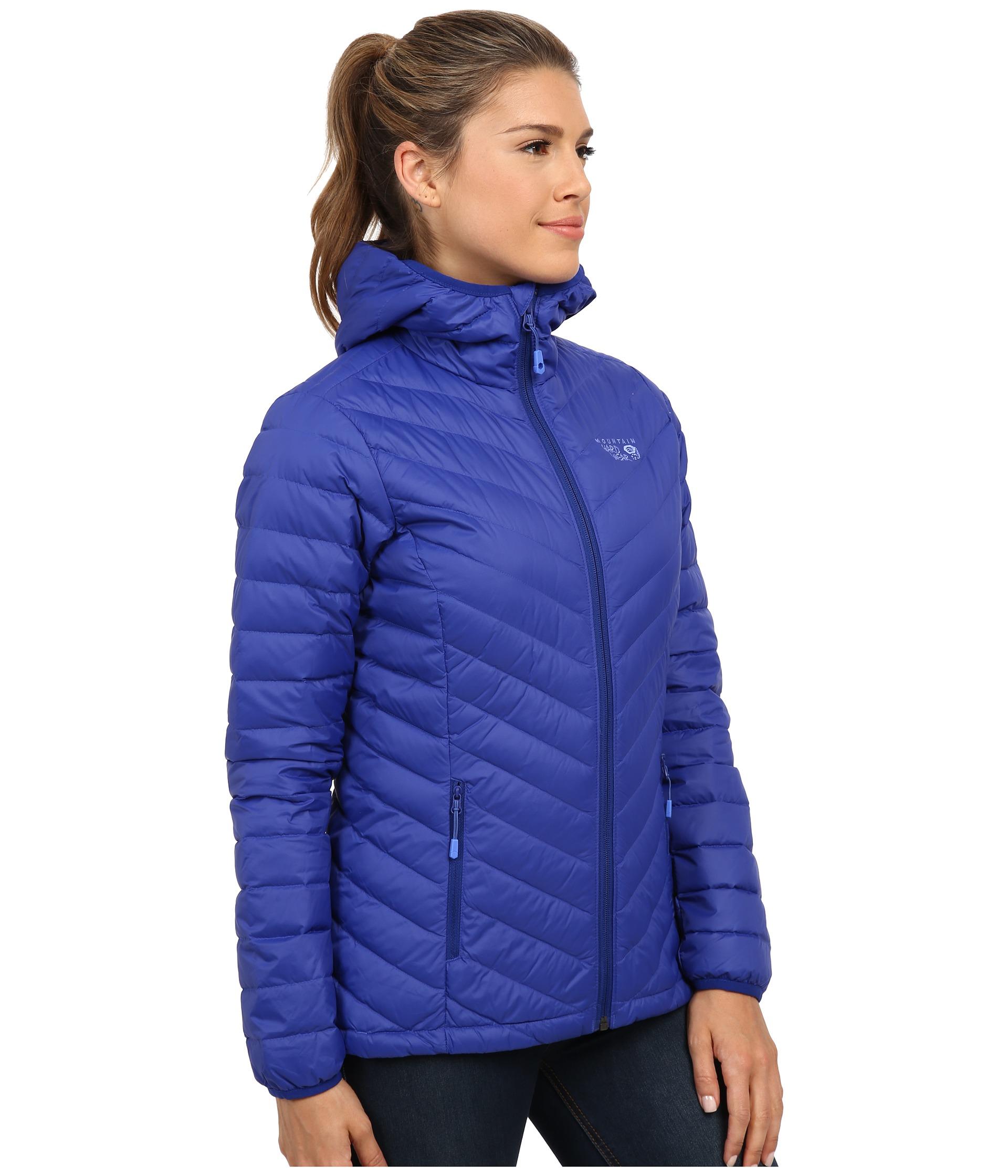 Mountain hardwear Micro Ratio™ Hooded Down Jacket in Blue   Lyst