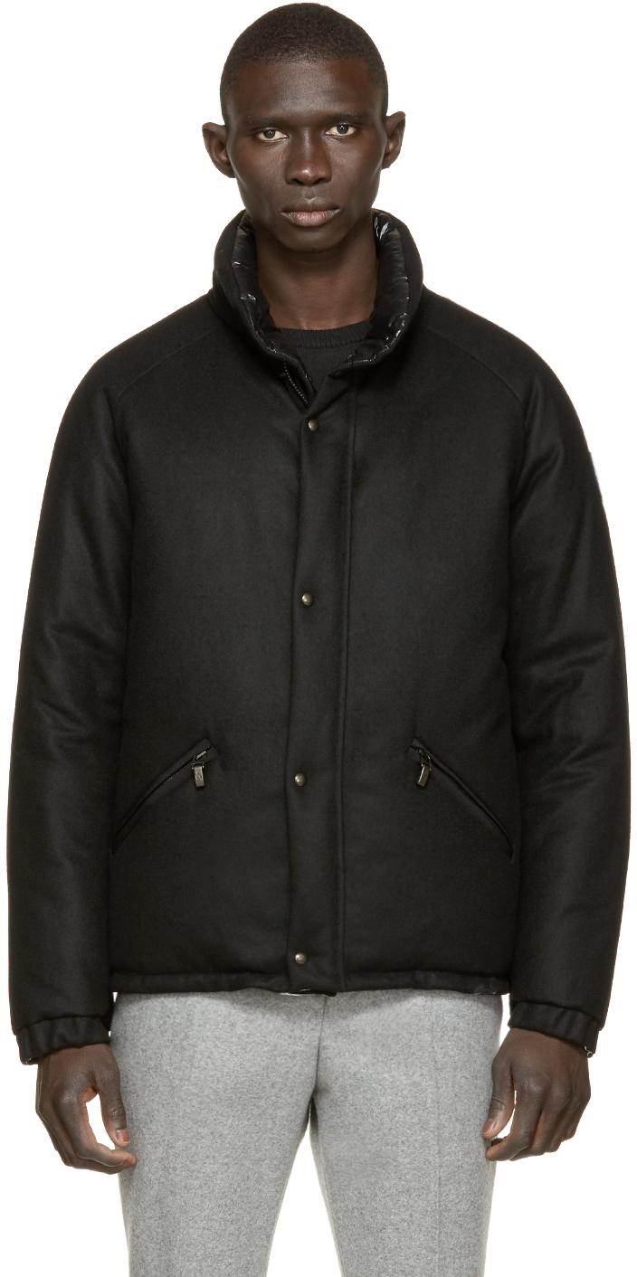 Moncler gamme bleu Black Reversible Down Jacket in Black for Men