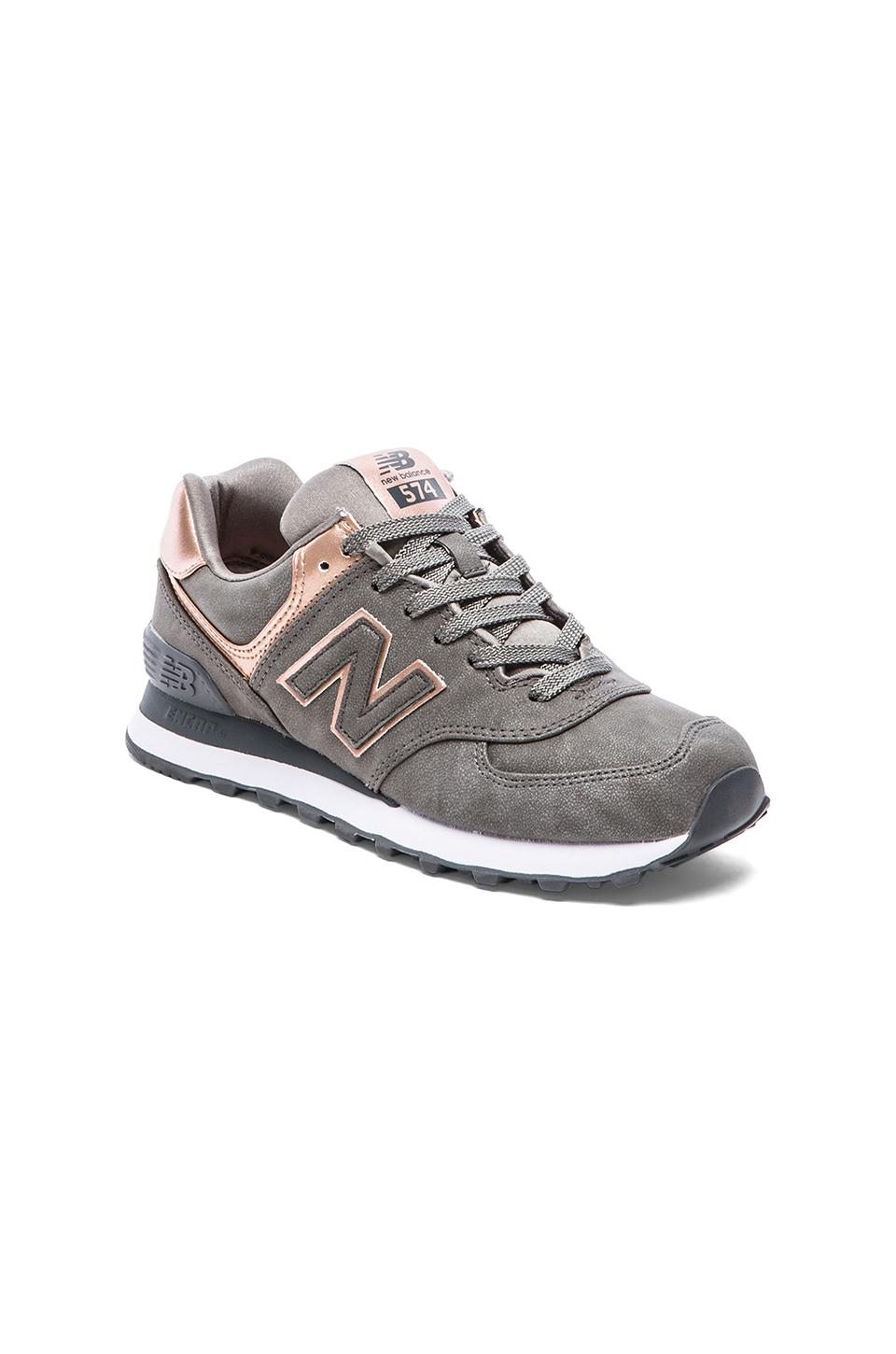 lyst new balance 574 precious metals collection sneaker in metallic. Black Bedroom Furniture Sets. Home Design Ideas