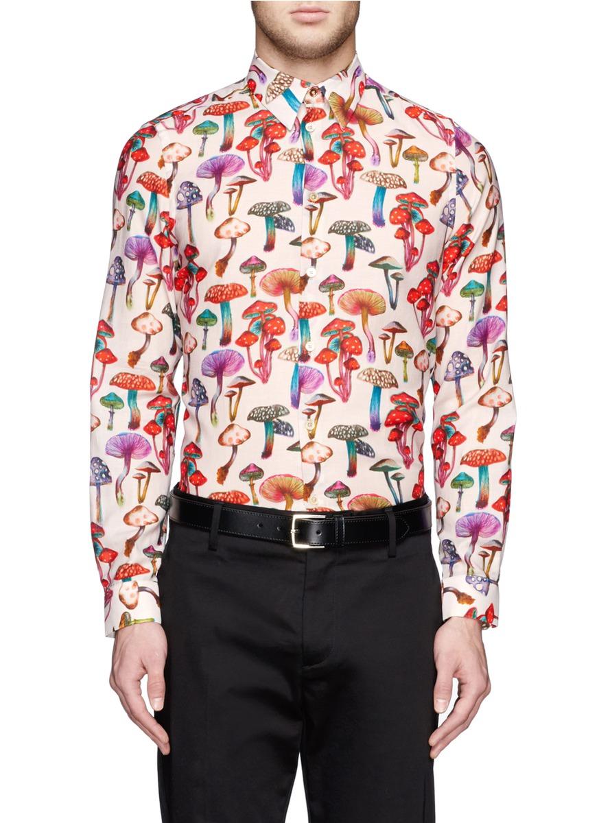 Lyst Paul Smith Magic Mushroom Print Cotton Shirt For Men