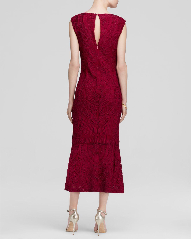 Js Collections Dress Sleeveless Soutache Midi In Purple