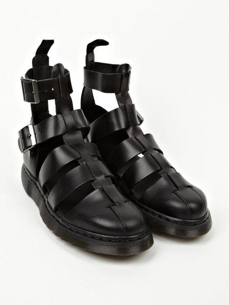 Dr Martens Men S Black Geraldo Ankle Strap Sandals Men S
