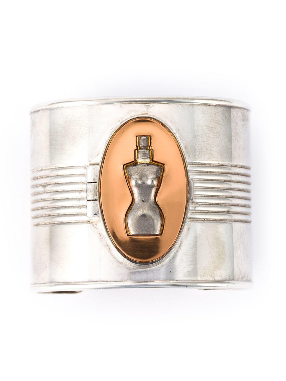 jean paul gaultier classic perfume cuff in silver. Black Bedroom Furniture Sets. Home Design Ideas