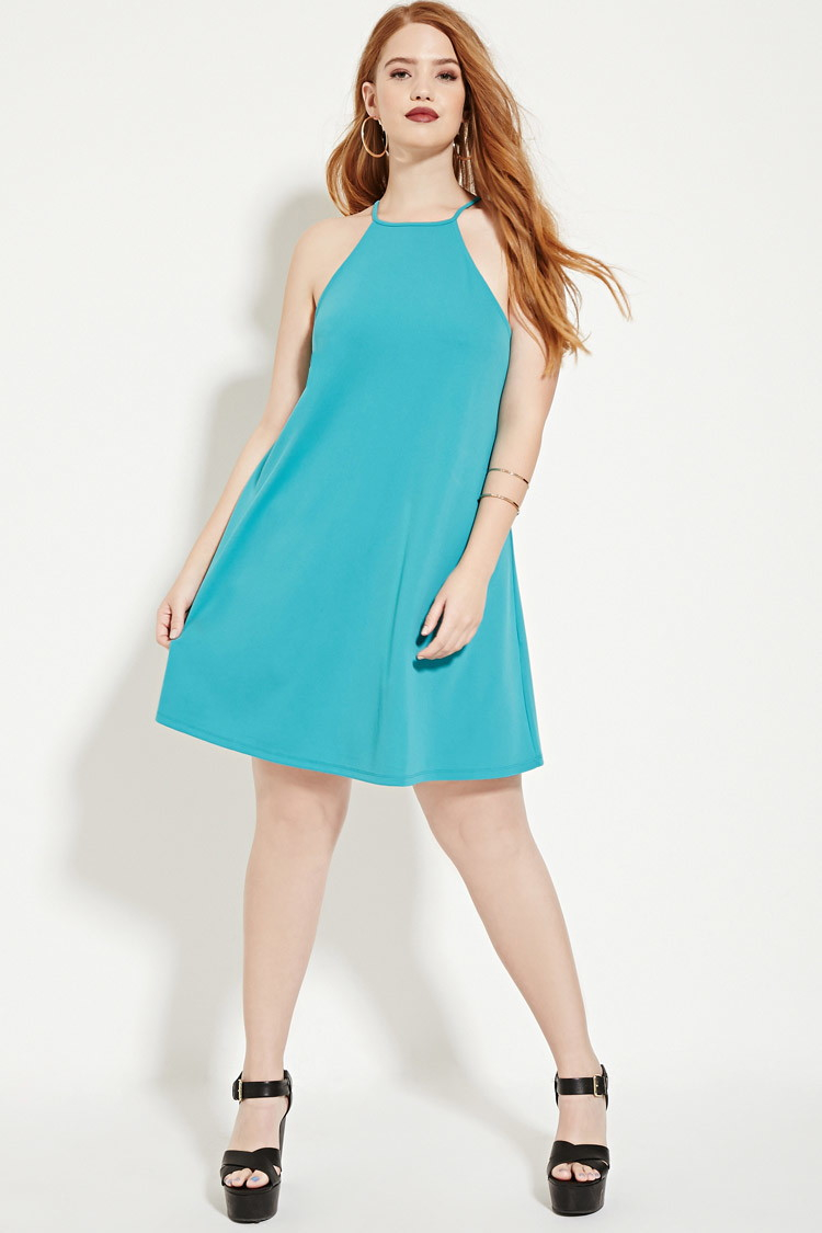 d84cbc49491 Forever 21 Plus Size Textured Cami Dress in Green - Lyst