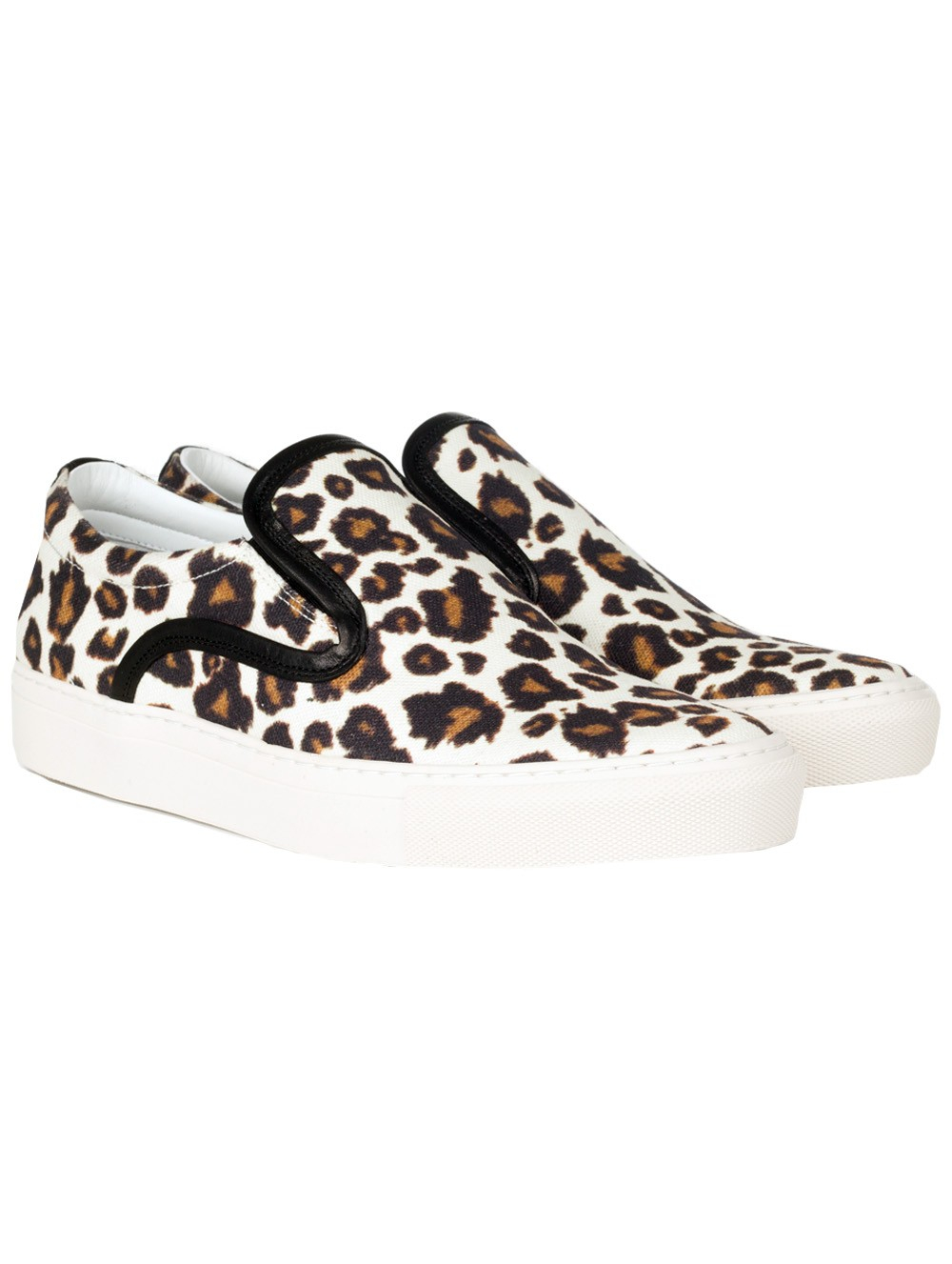 mother of pearl achilles leopard print canvas slip on sneakers in animal lyst. Black Bedroom Furniture Sets. Home Design Ideas