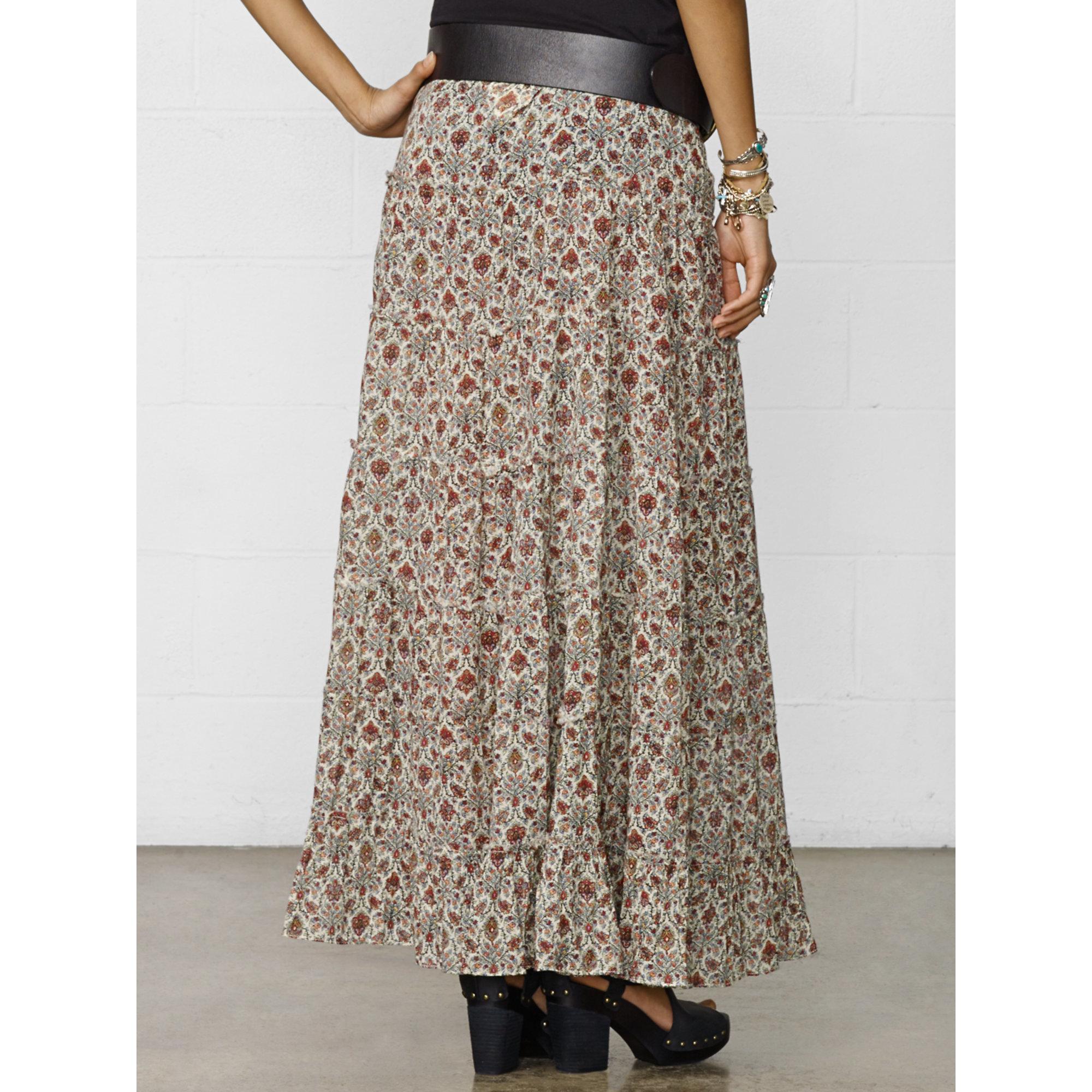 f4116fb878 Denim & Supply Ralph Lauren Lyon Paisley Tiered Maxiskirt - Lyst