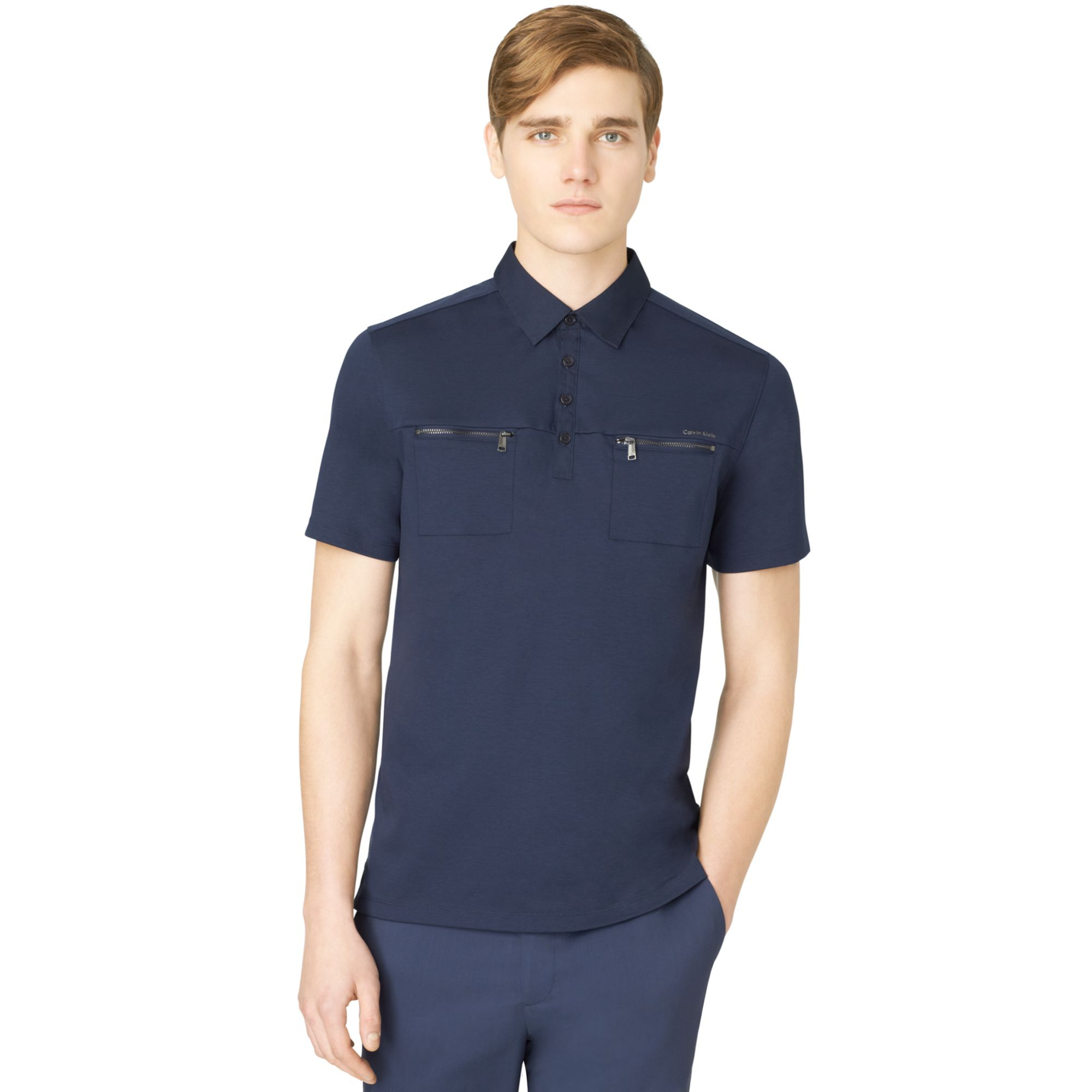 Shirts short sleeve t shirts calvin klein jeans t shirts for Two pocket polo shirt