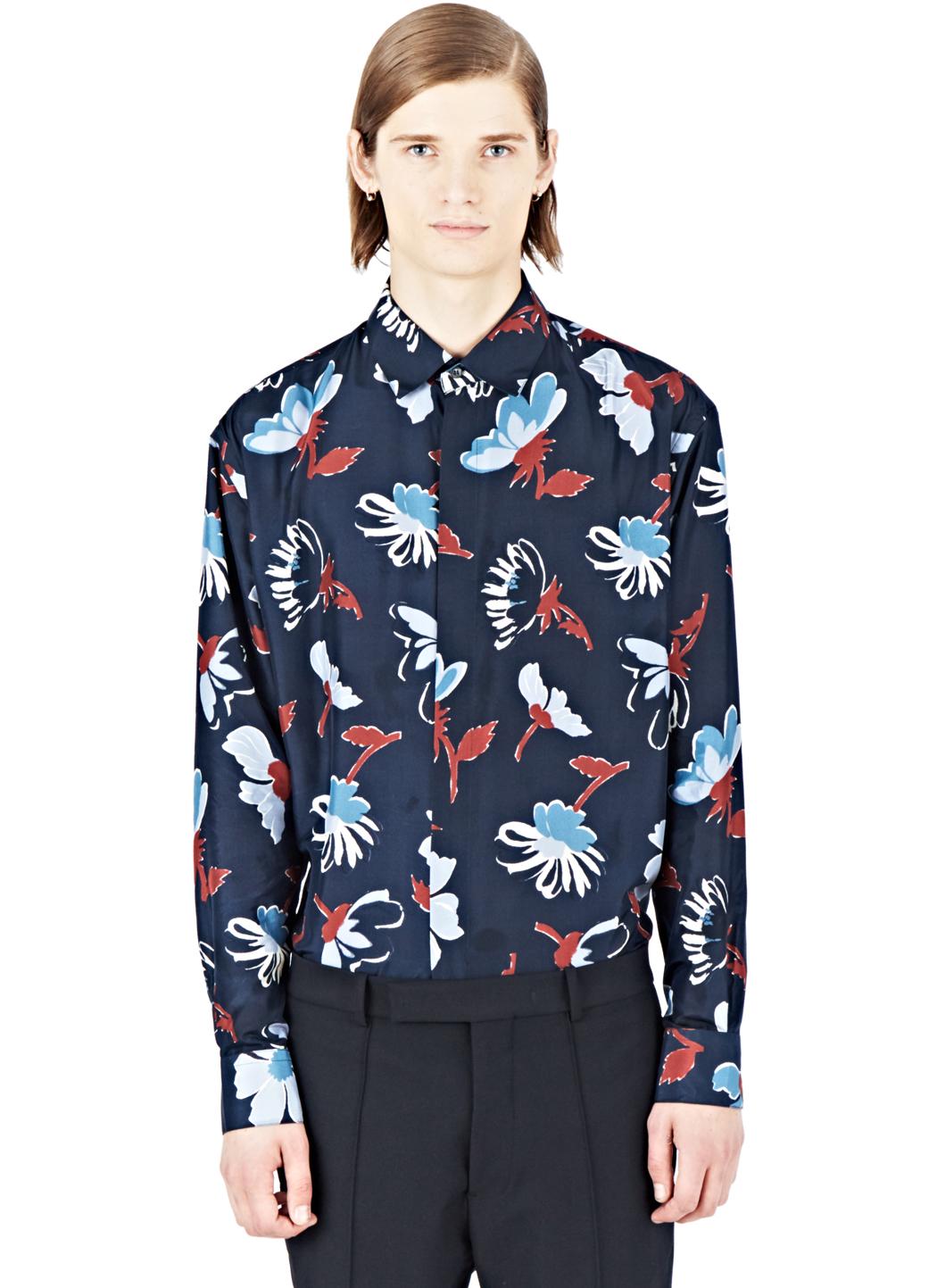 Floral-printed silk blouse Marni Discount qwB2W1h