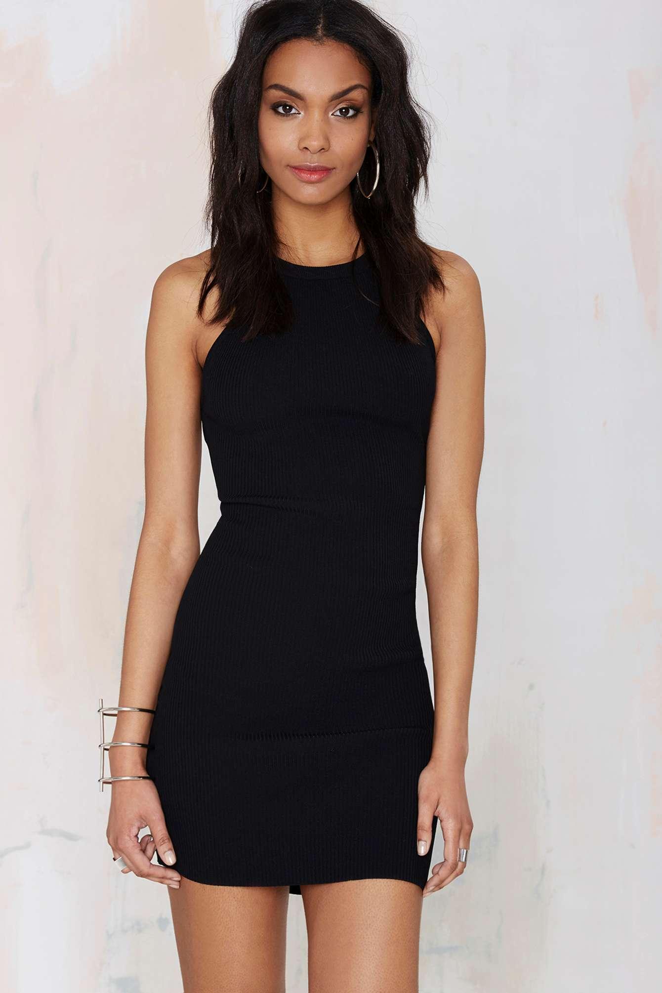 Lyst - Nasty Gal Hold Tight Cutaway Dress in Black