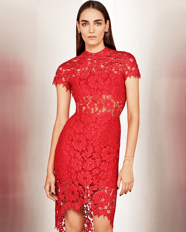 b22e8d75b0e Alexis Elsen Lace Dress  Red in Red - Lyst