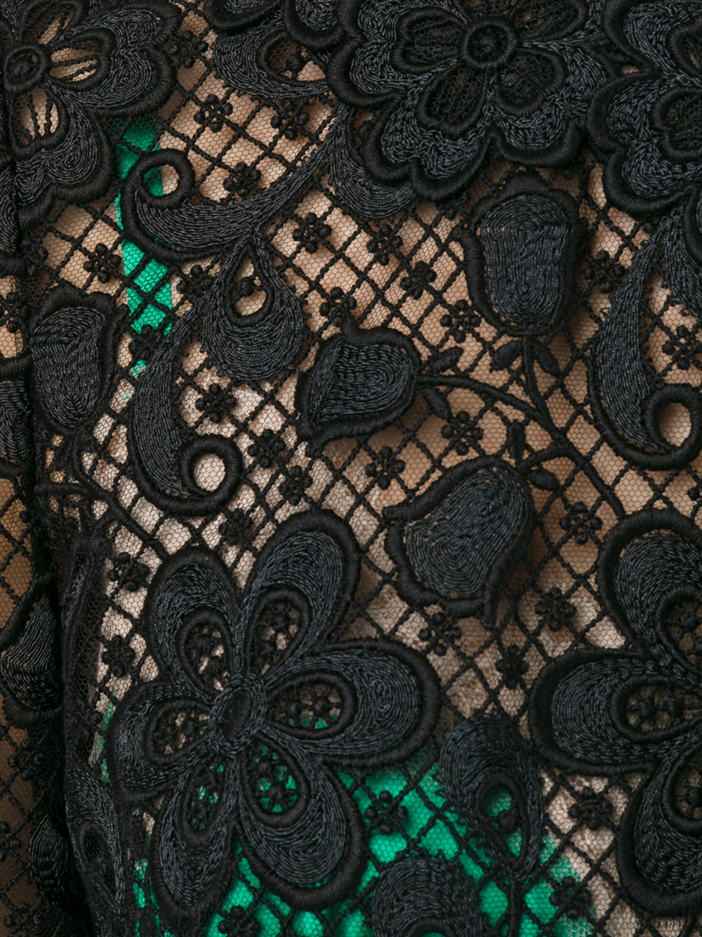 Dolce Amp Gabbana Contrast Lining Lace Dress In Black Lyst