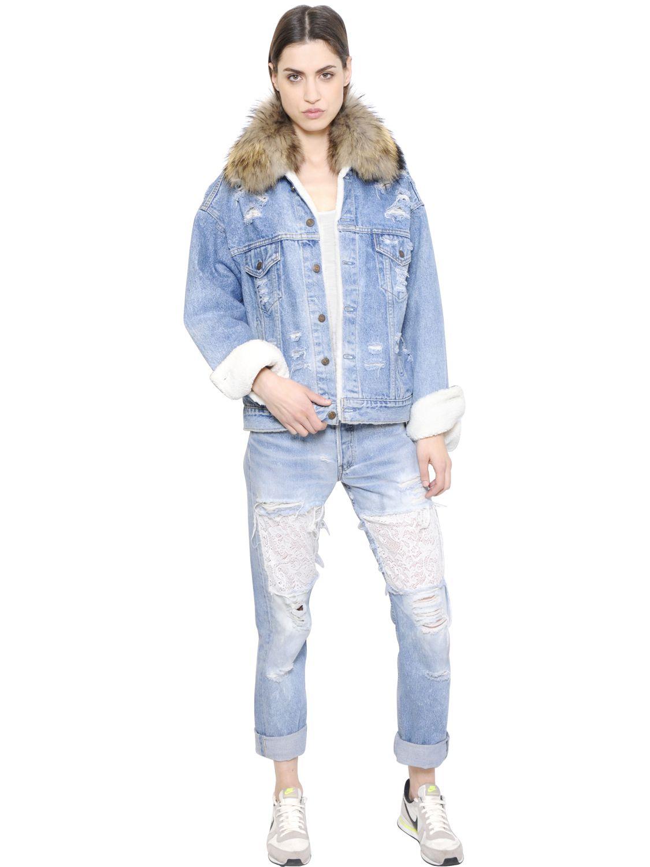 Forte couture Le Bon Winter Murmansky & Denim Jacket in ...