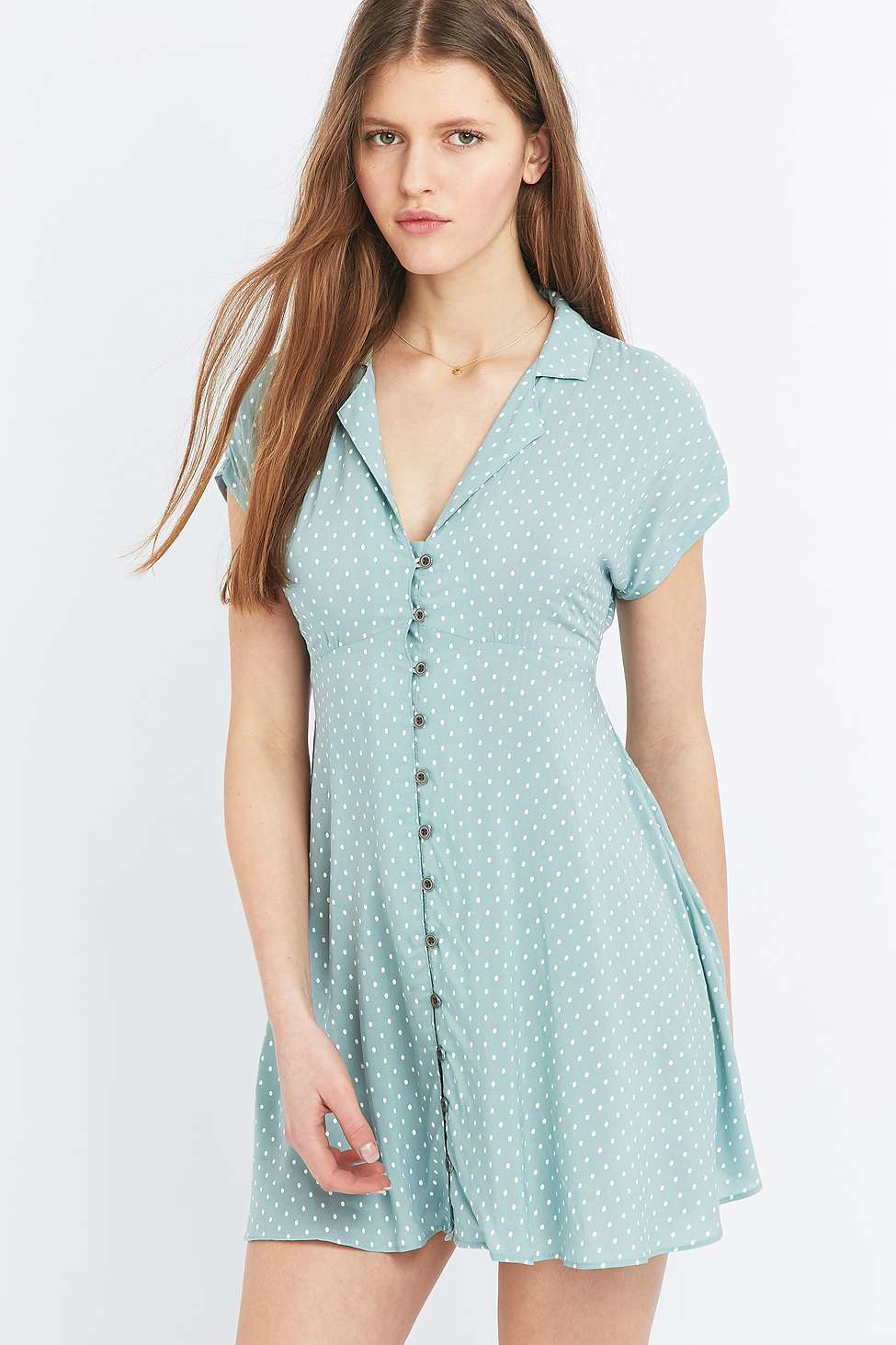 Kimchi Blue Lucy Sky Shirt Dress In Blue Lyst