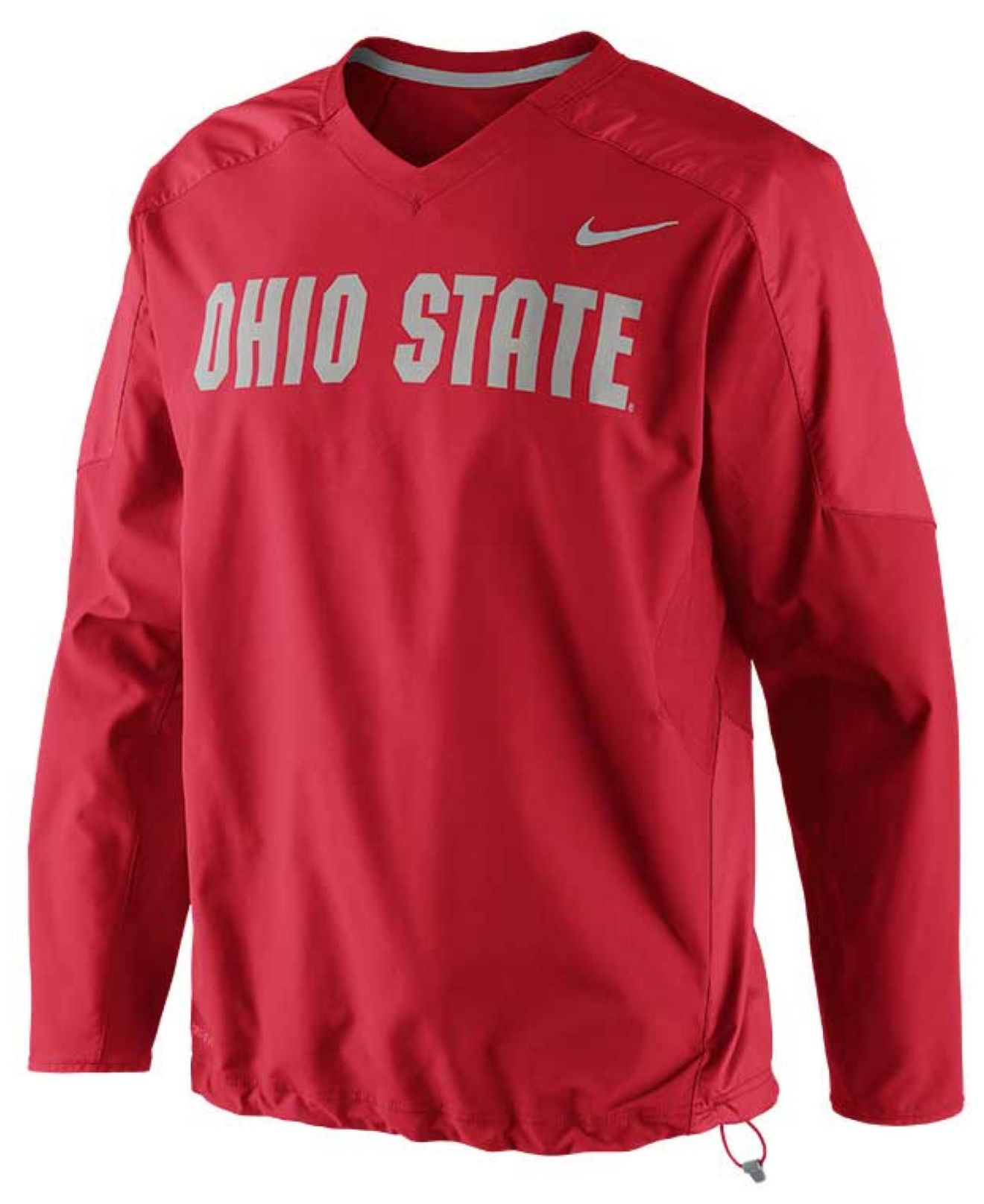 Nike Men'S Ohio State Buckeyes Dri-Fit Pullover Wind Jacket in Red ...