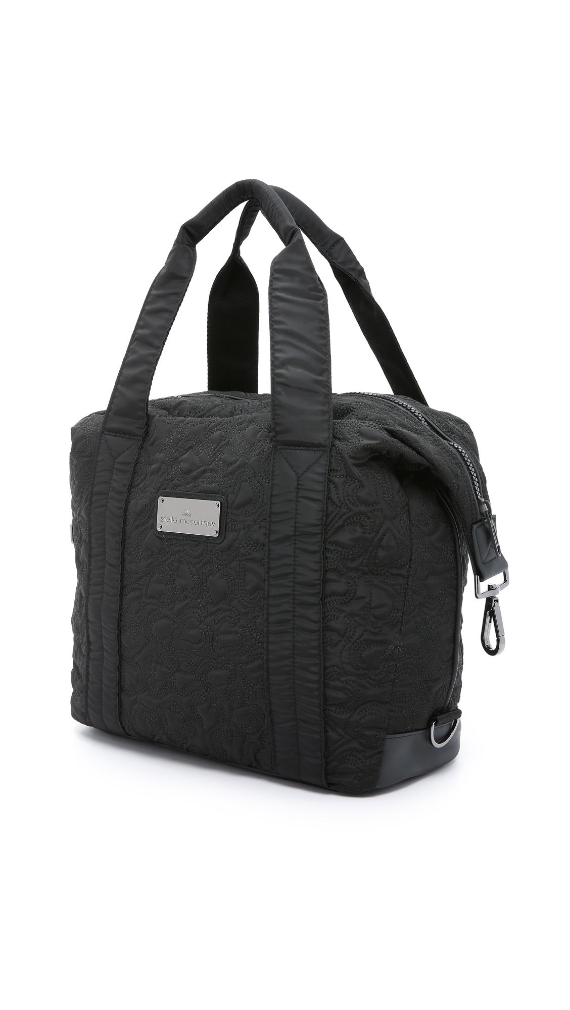 d8e463ac80f9 adidas By Stella McCartney Small Gym Bag - Black in Black - Lyst