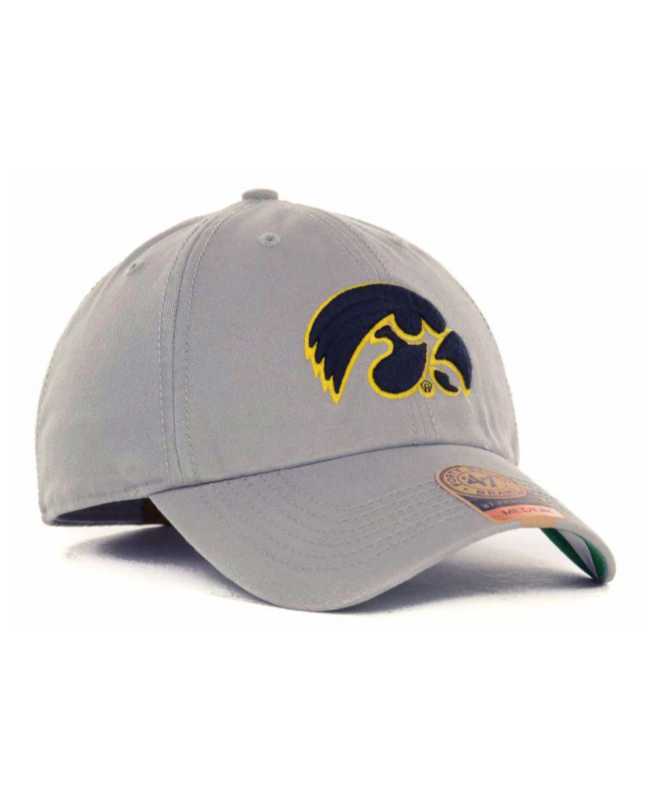 new product 81759 9e7df ... sweden lyst 47 brand iowa hawkeyes ncaa 47 grey franchise cap in gray  cb0bb ca73c