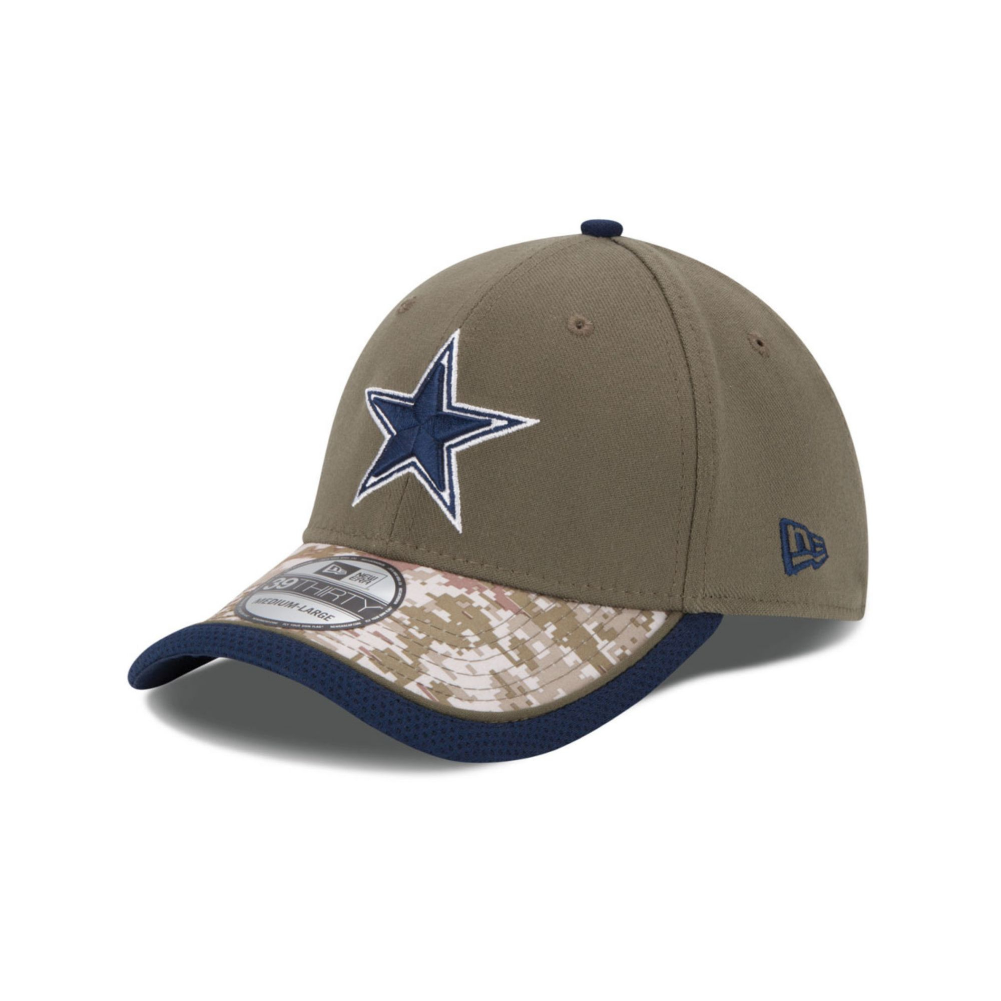 Lyst - KTZ Dallas Cowboys Salute To Service 39thirty Cap in Green ... 43237a5c4cf