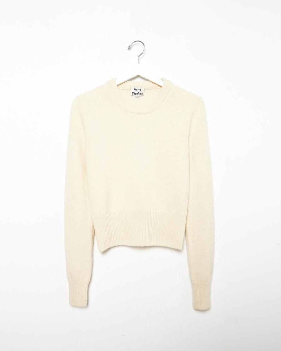 Acne studios Henrietta Cropped Sweater in Natural | Lyst
