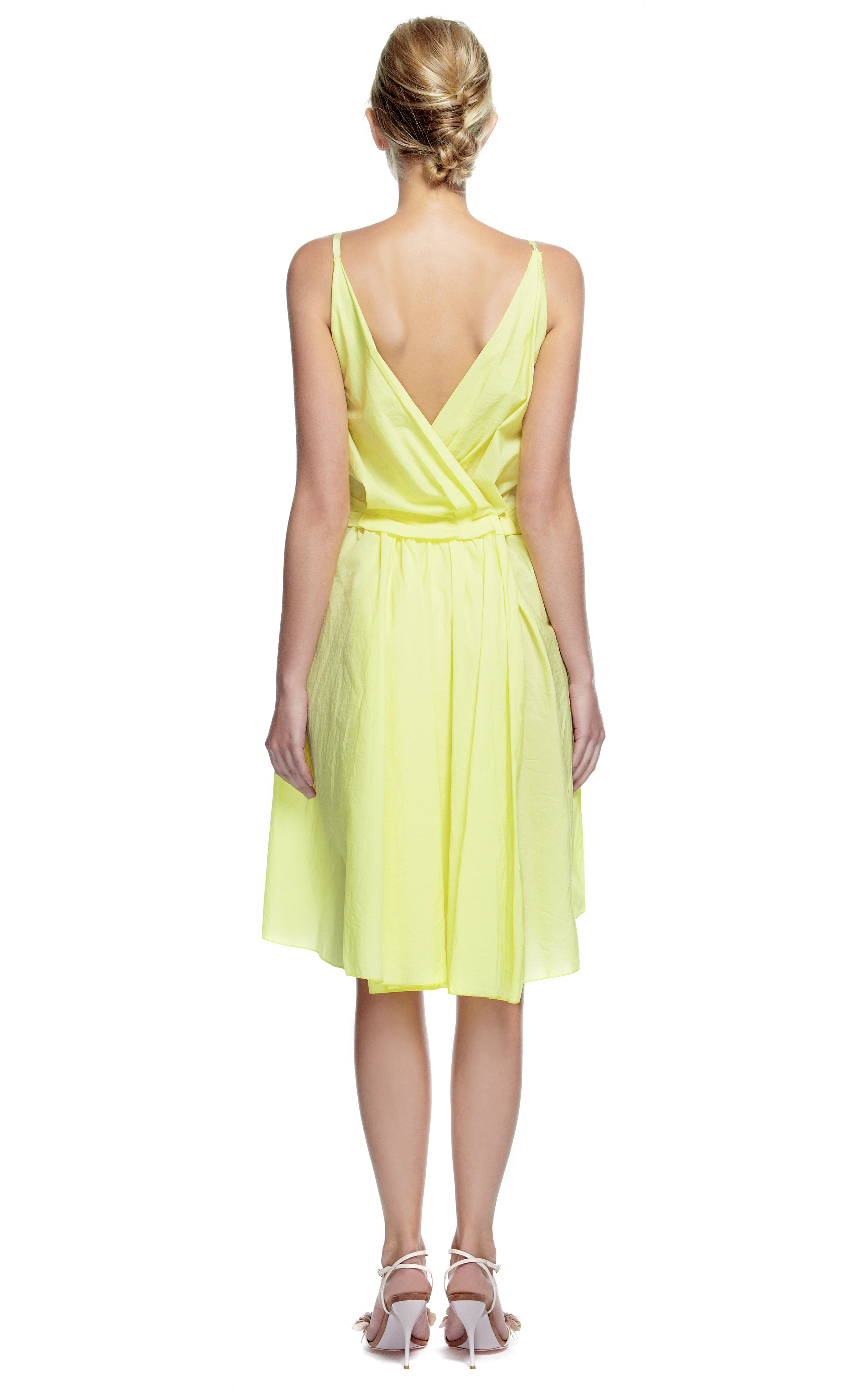 Nina Ricci Cotton Dress In Yellow Lyst