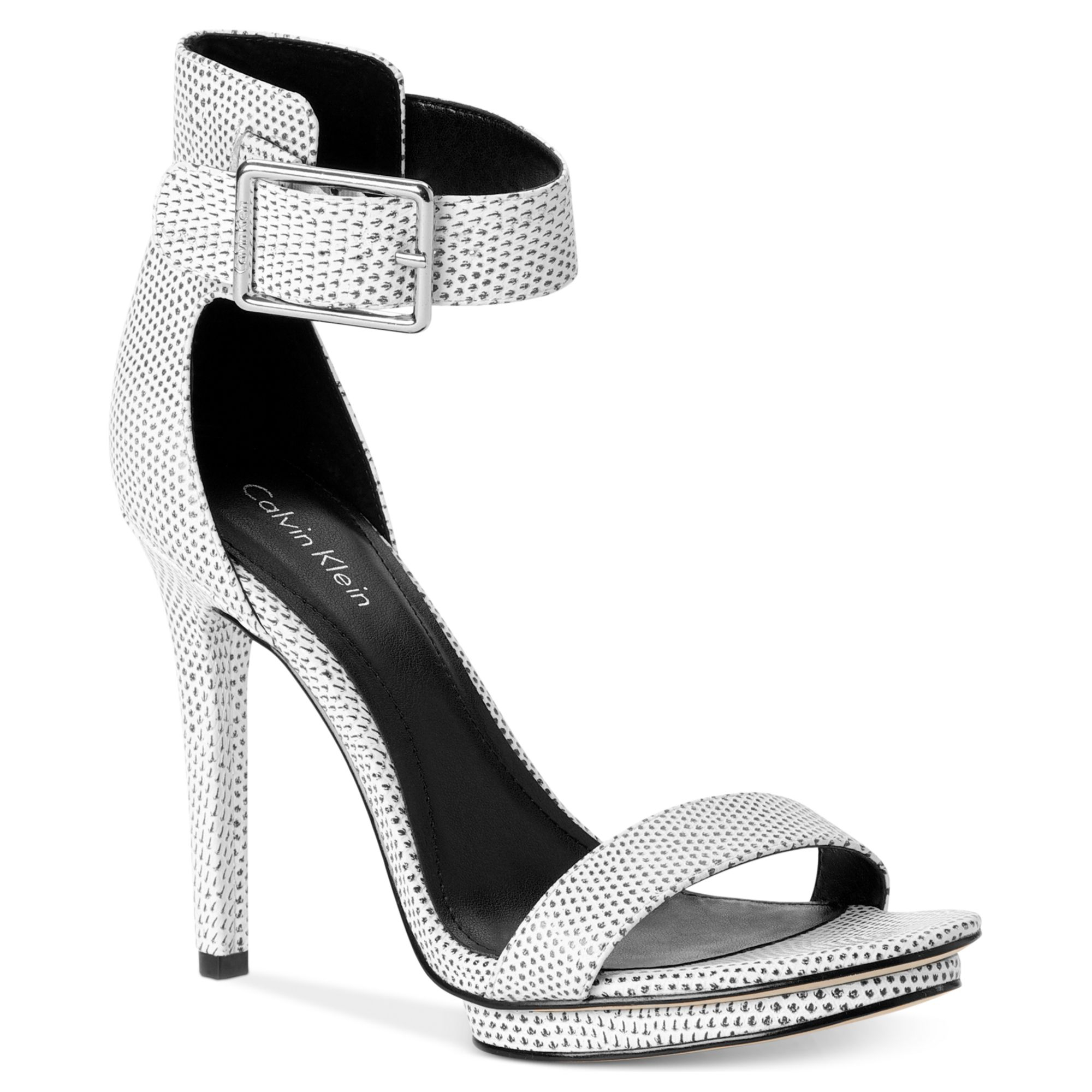 Lyst Calvin Klein Womens Vivian Sandals In Metallic
