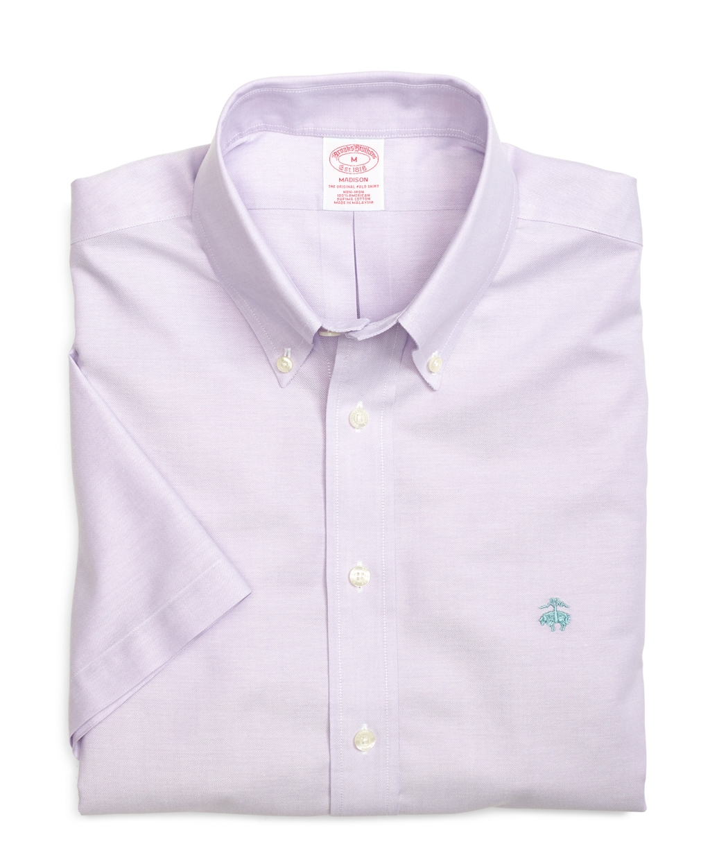 Brooks brothers non iron madison fit oxford short sleeve for Brooks brothers non iron shirts review
