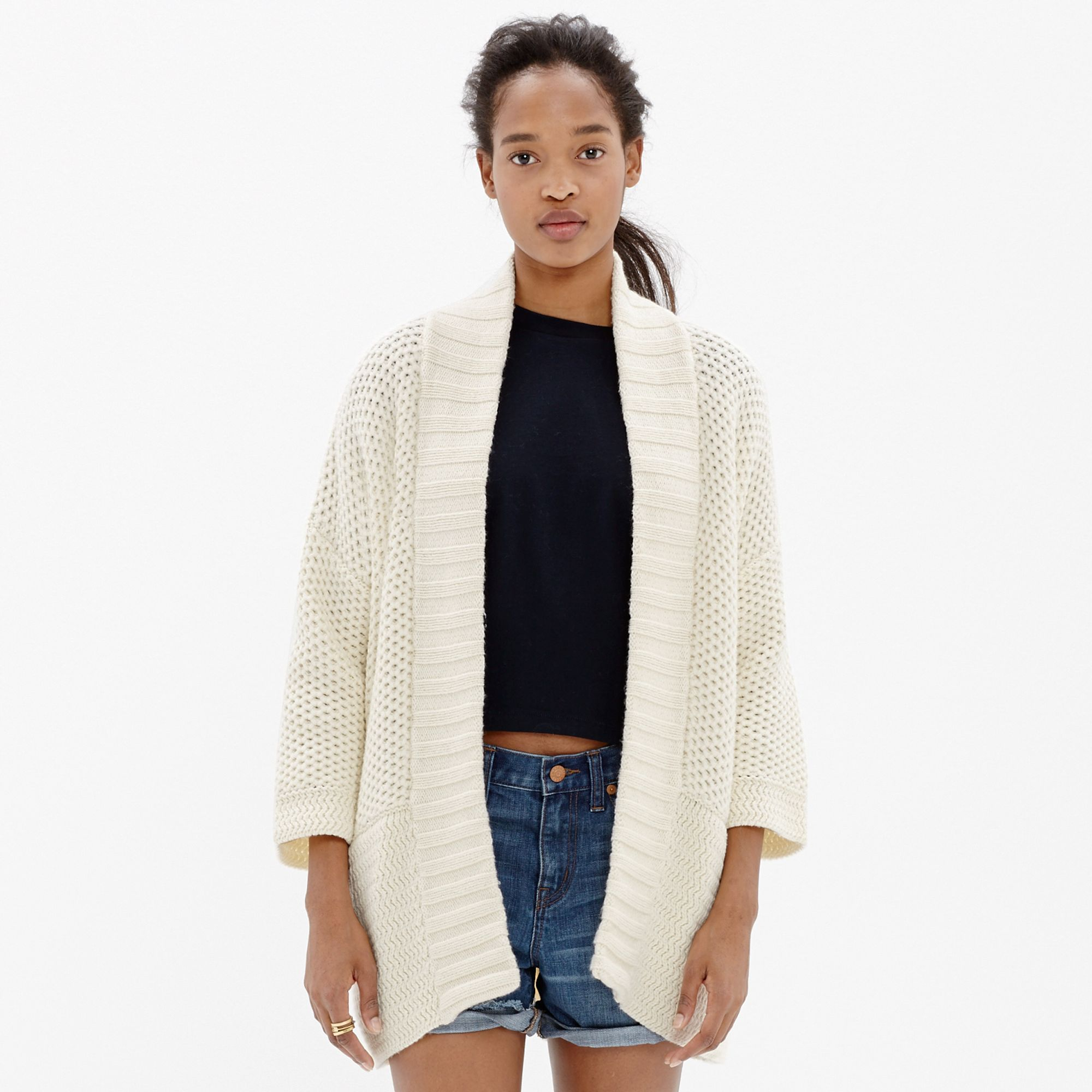 Madewell Kimono Cardigan Sweater in Natural   Lyst