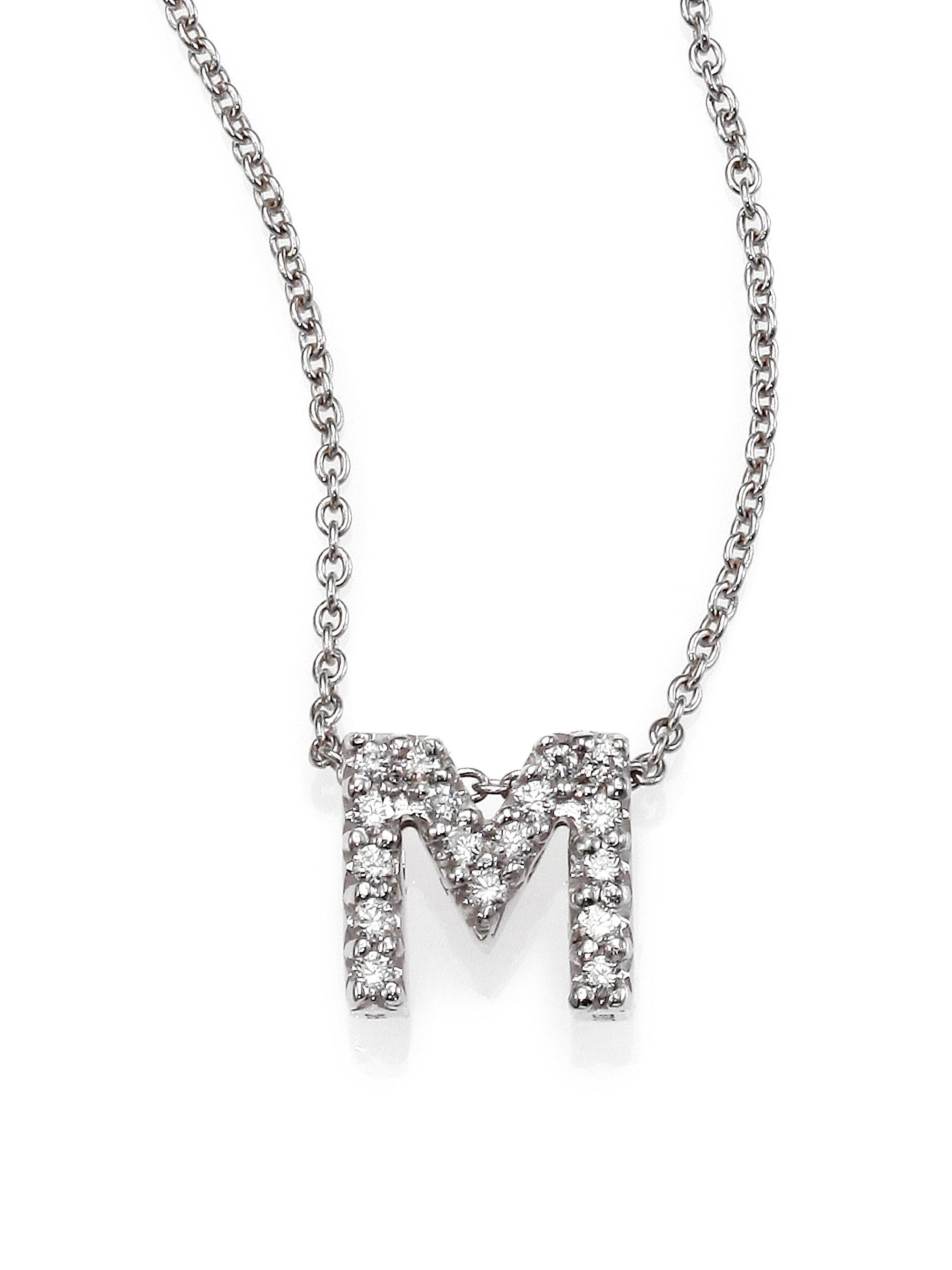 tiny treasures diamond amp 18k white gold love letter pendant necklace