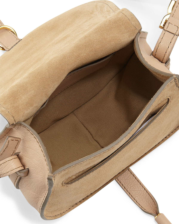 chloe beige leather small marcie bag
