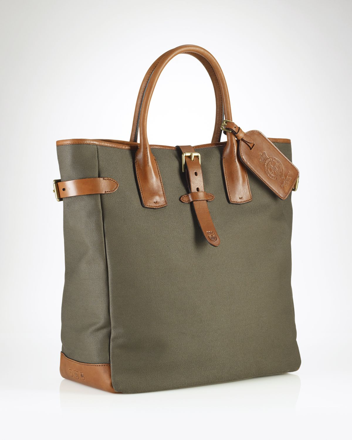 7e795a1ca2c9 Ralph Lauren Polo Canvas Tote Bag in Green for Men (olive)