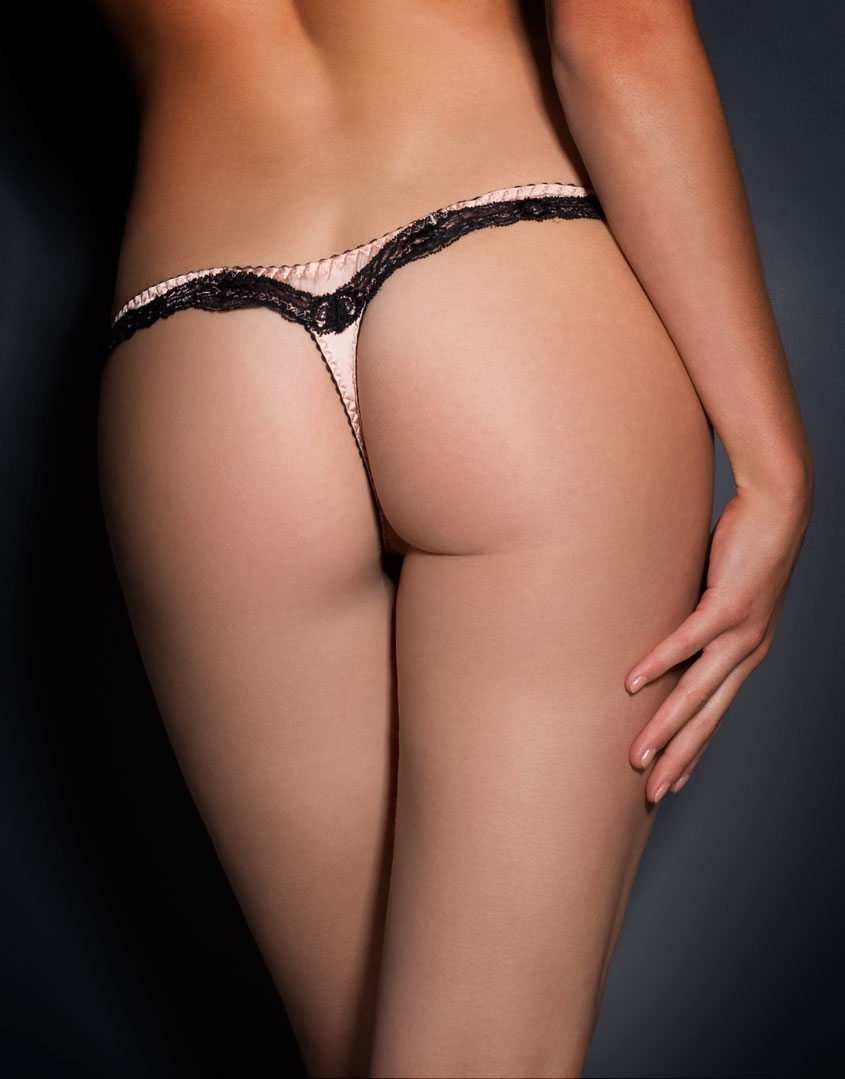 Agent provocateur Amelea Thong Pink/black in Pink  Lyst